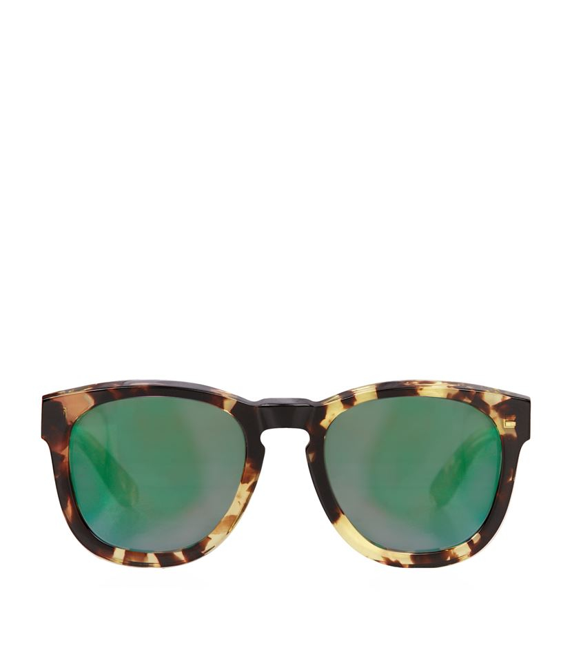 wildfox classic fox deluxe sunglasses in green lyst