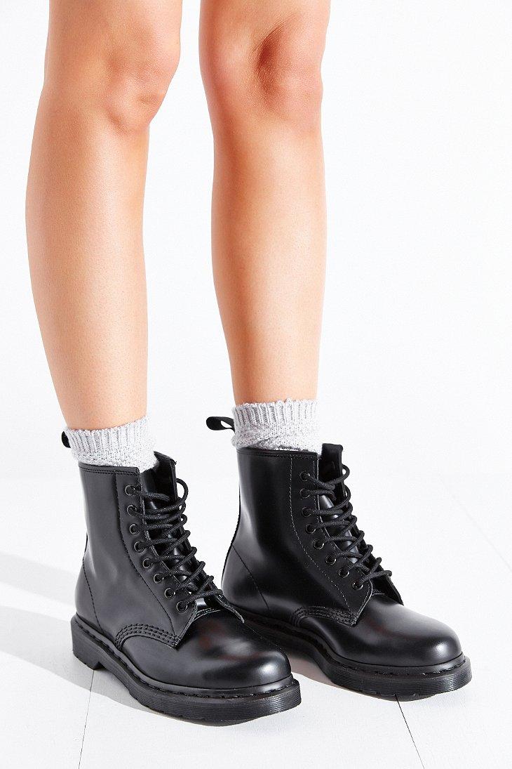 81f540def40c Dr. Martens 1460 Mono Boot in Black - Lyst