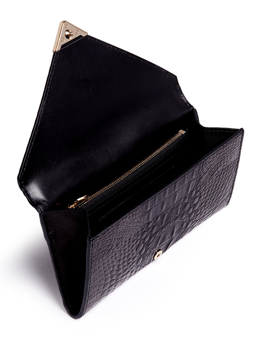 Alexander Wang Prisma Alligator Embossed Leather