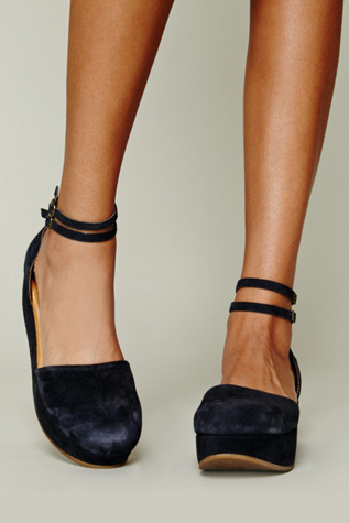 99cd9ce1278e Lyst - Free People Daphne Ii Platform in Blue