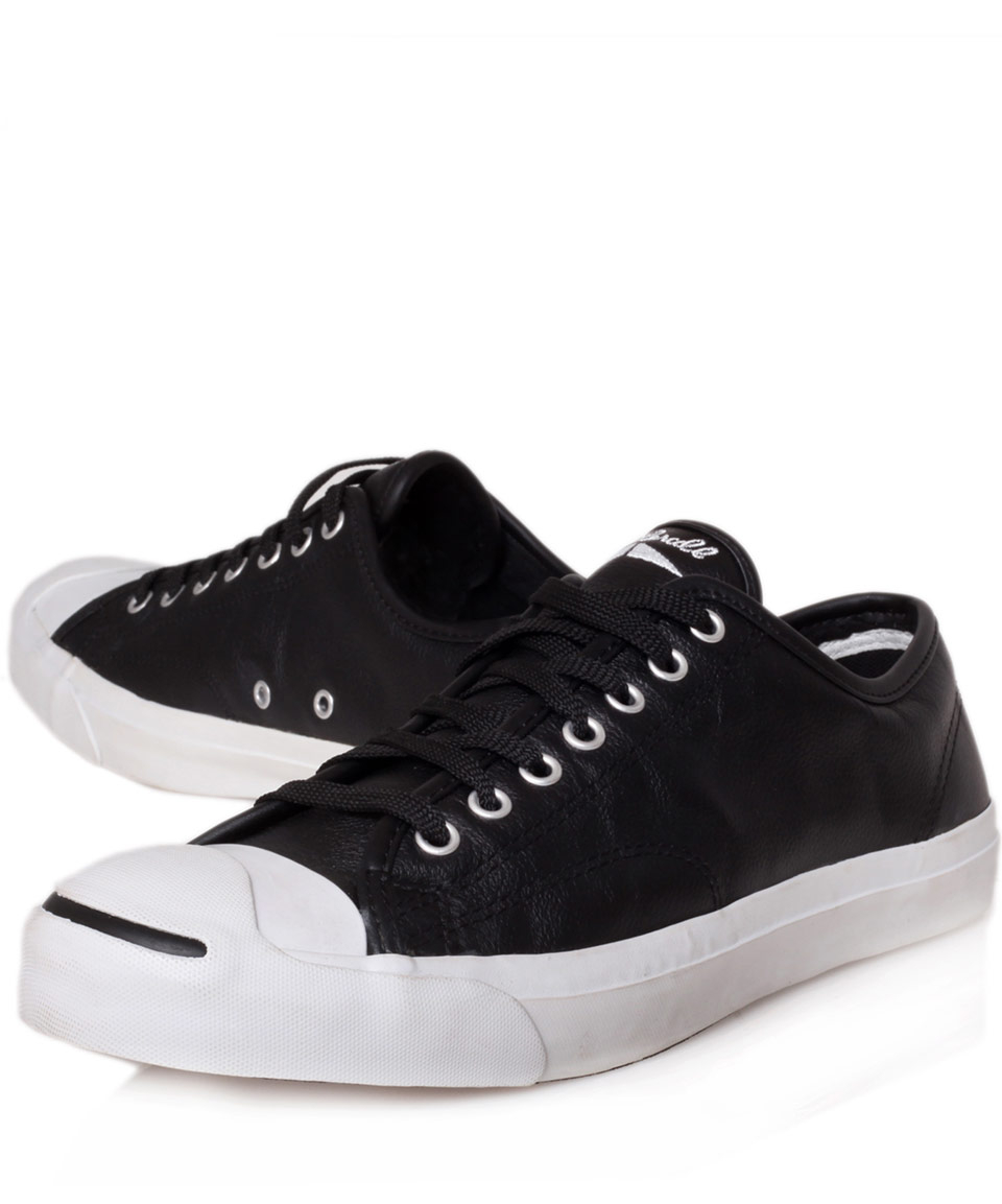 d74d3e878c0c ... coupon code for lyst converse black jack purcell leather trainers in  black for men c79ad 4057f