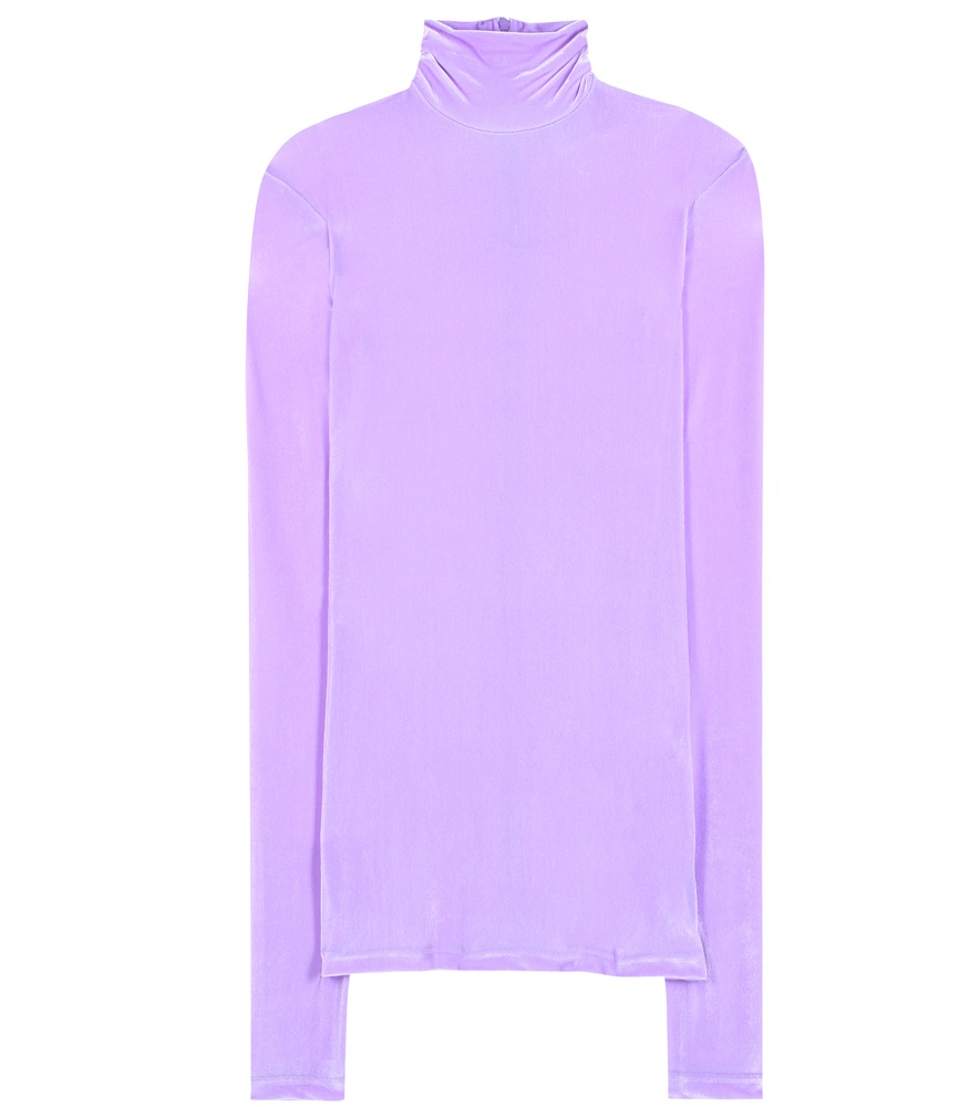Vetements Velvet Turtleneck Sweater in Purple   Lyst