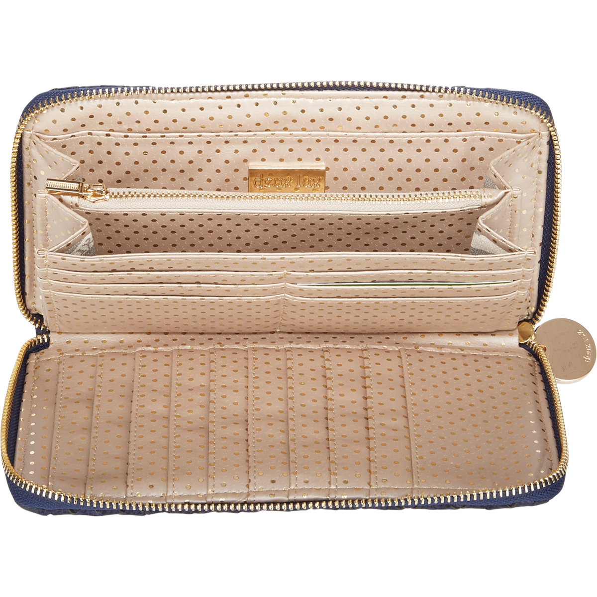 Lyst Deux Lux Extra Large Zip Around Travel Wallet In Blue
