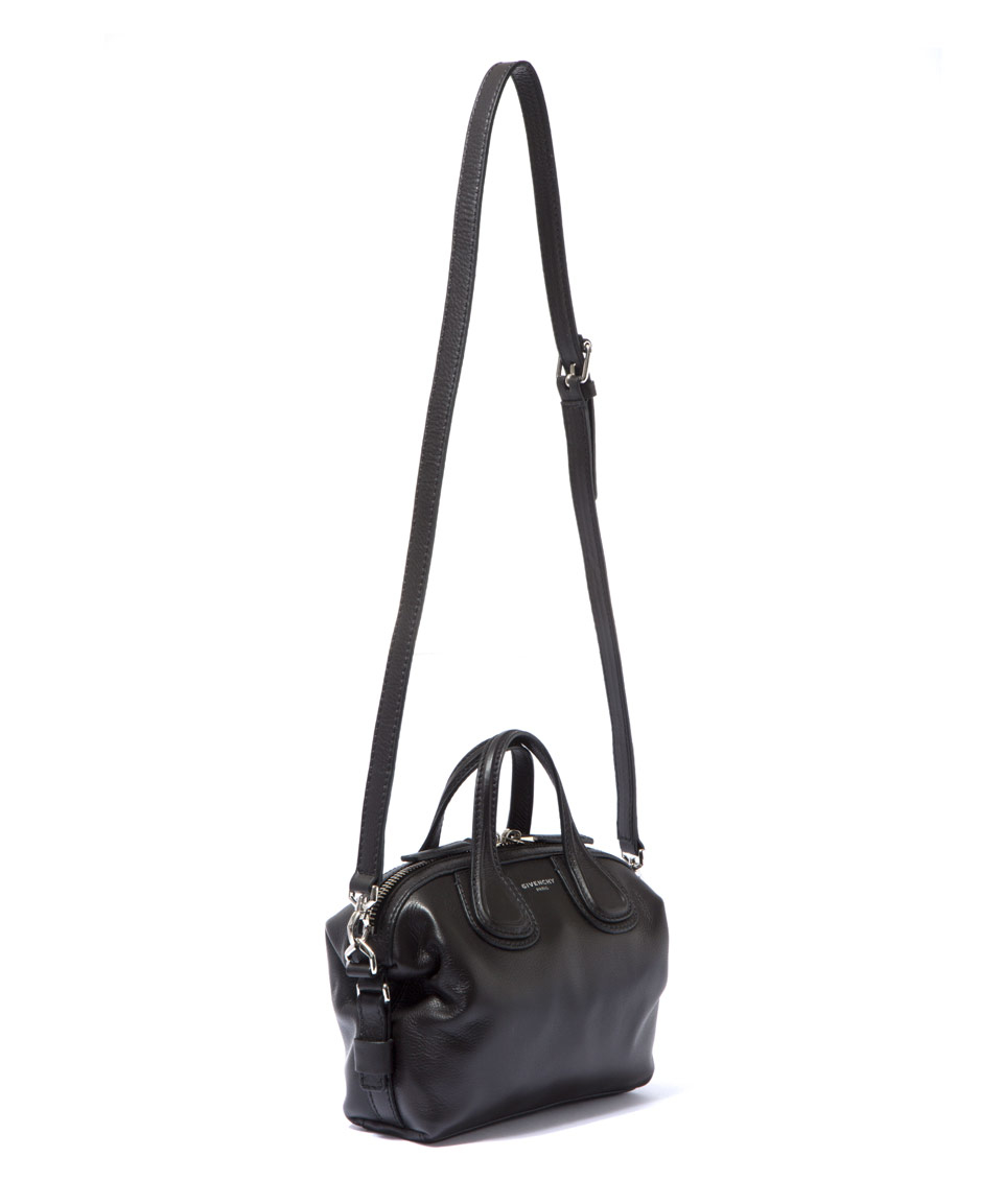 2298f65f17ef Givenchy Micro Black Nightingale Waxed Leather Bag in Black - Lyst