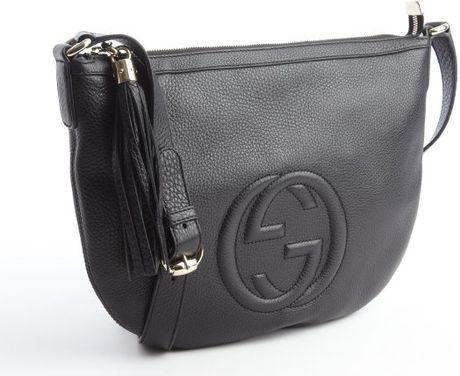 c36c28d9e458 Gucci Black Leather Gg Soho Messenger Bag | Stanford Center for ...