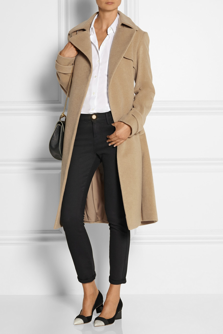Theory Terrance Cashmere Coat in Natural | Lyst