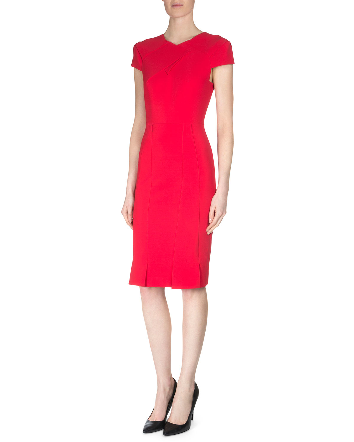 Red Sheath Dress Pictures to pin on Pinterest