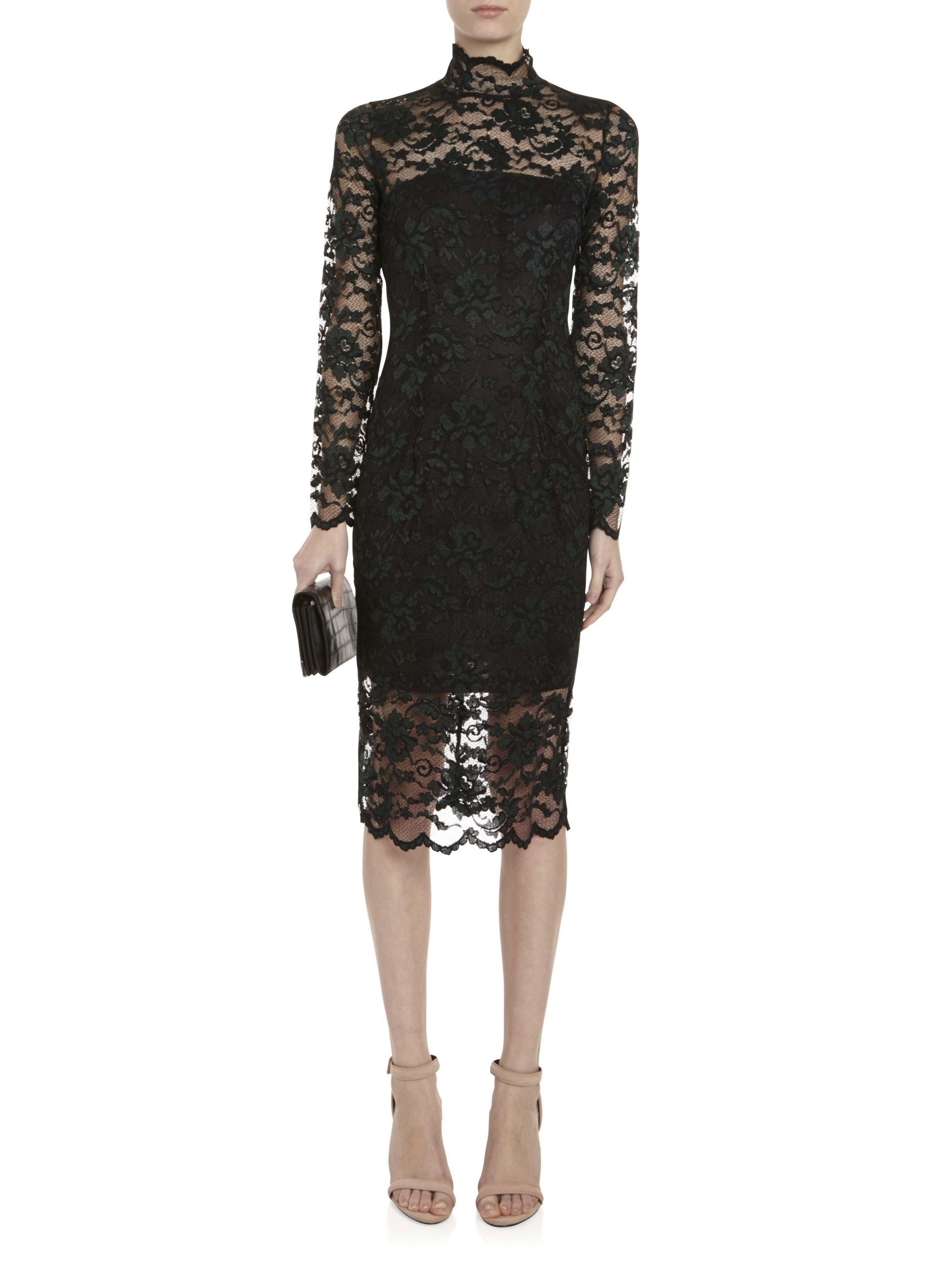 Ganni Flynn Lace Dress In Black Lyst