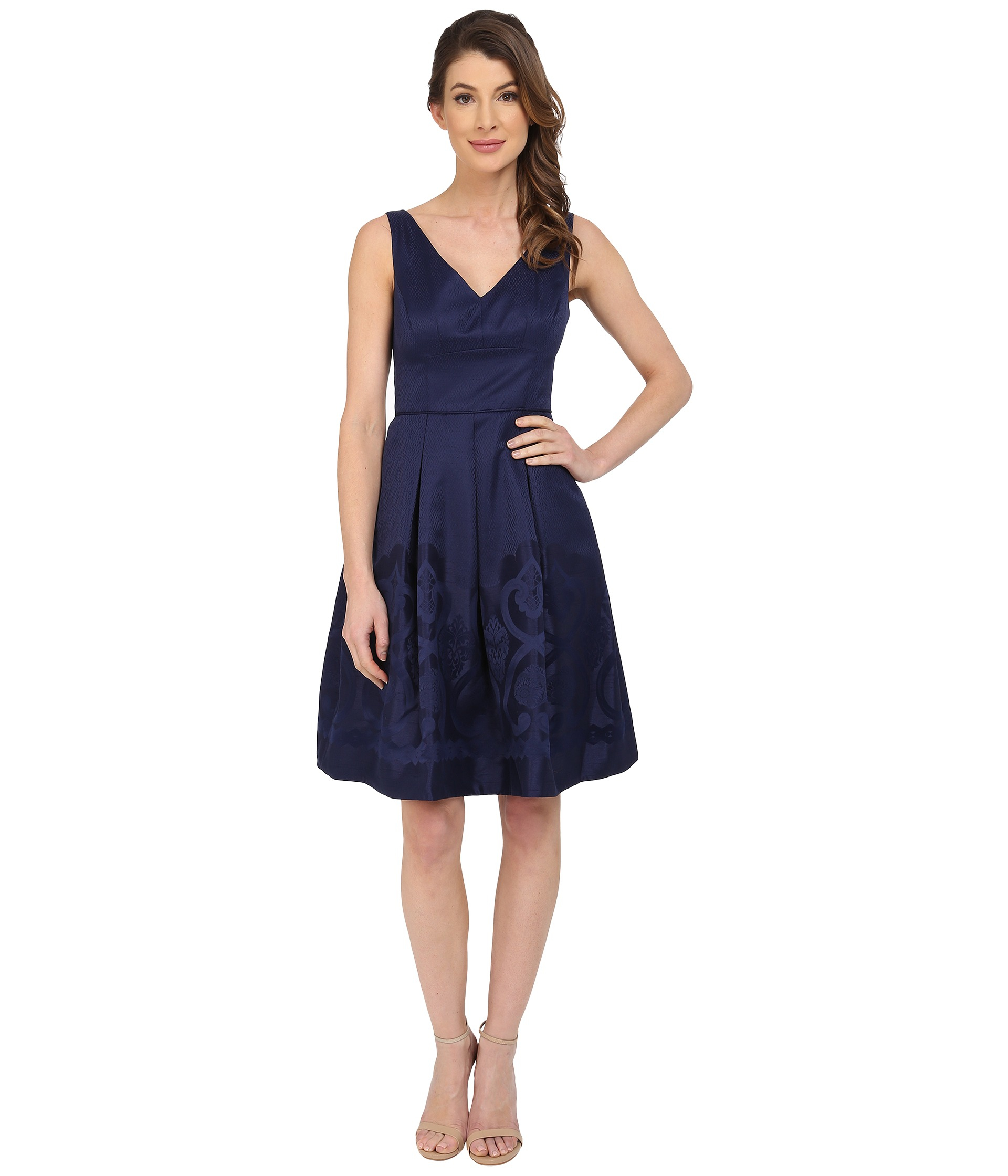 Maggy london Scroll Border Jacquard Fit And Flare Dress in ...
