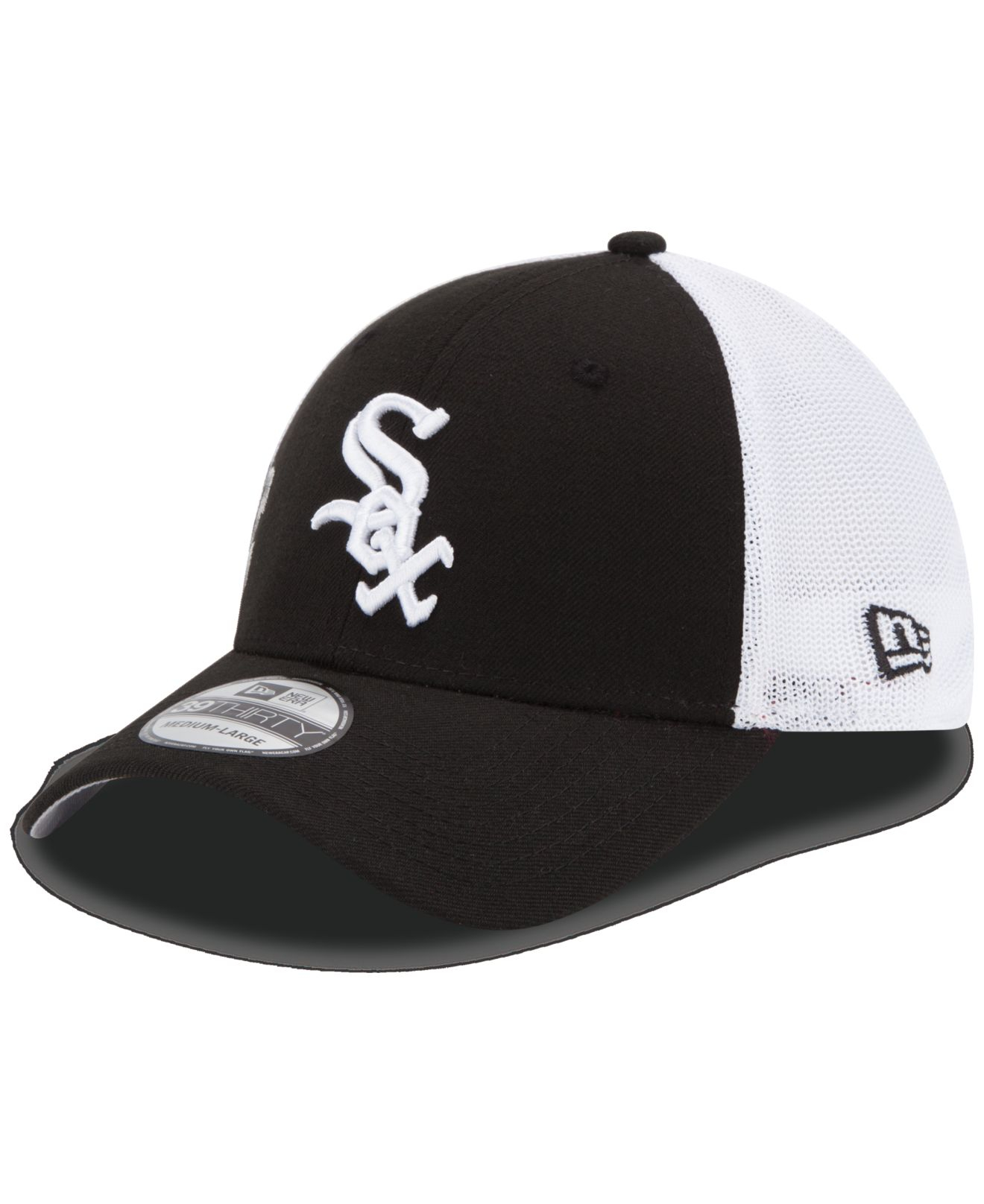 ktz chicago white sox double mesh thirty cap in black for men lyst gallery