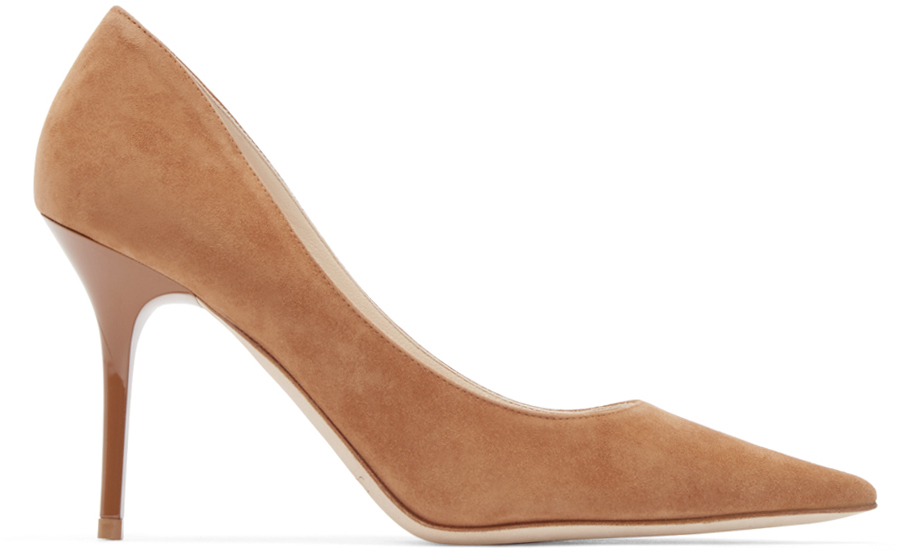 3189a57c56fa Lyst - Jimmy Choo Agnes Suede Pumps in Brown