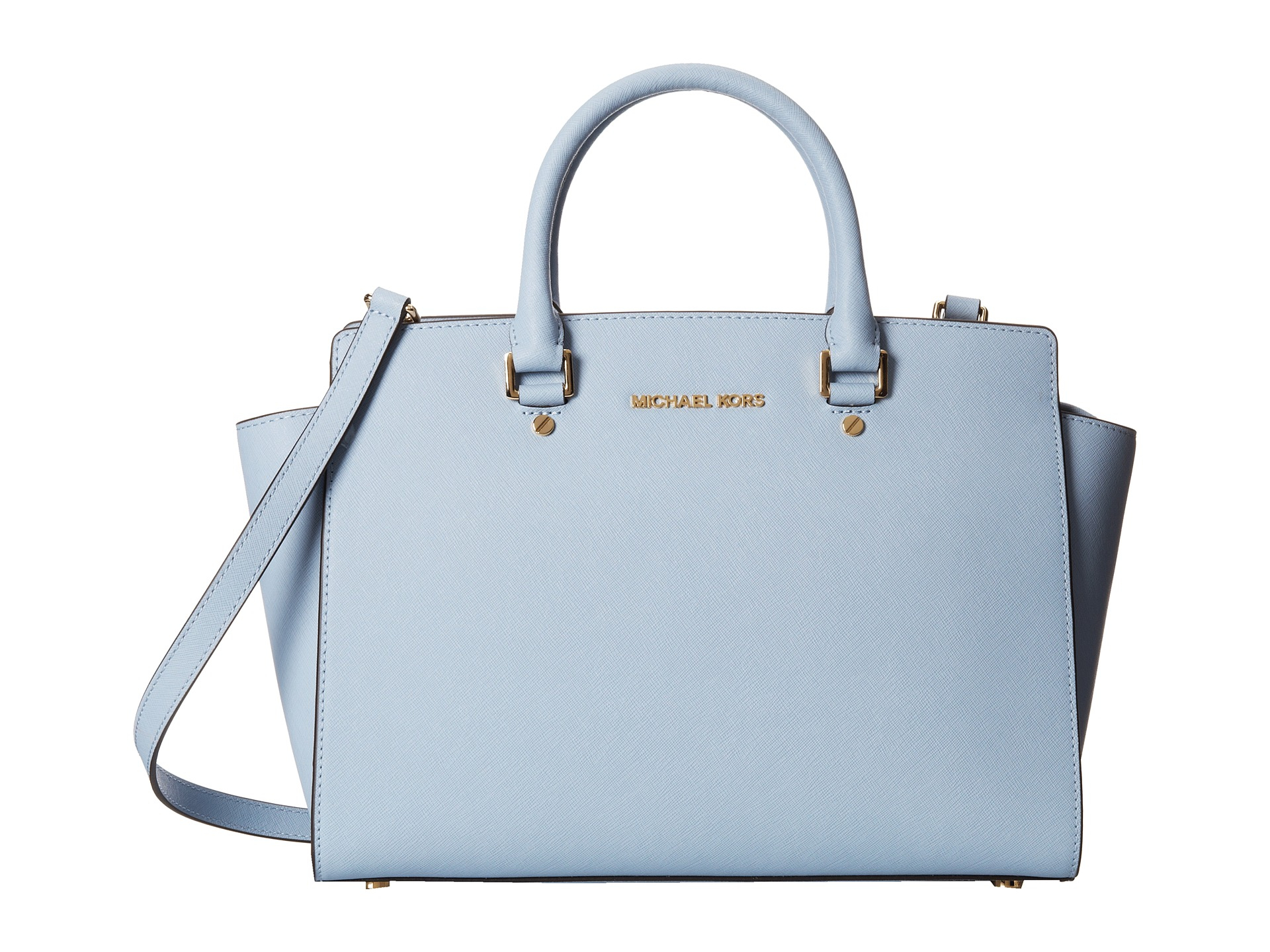 9f0b54a28cb5 ... where can i buy lyst michael michael kors selma large tz satchel in  blue 30a3d 39c25