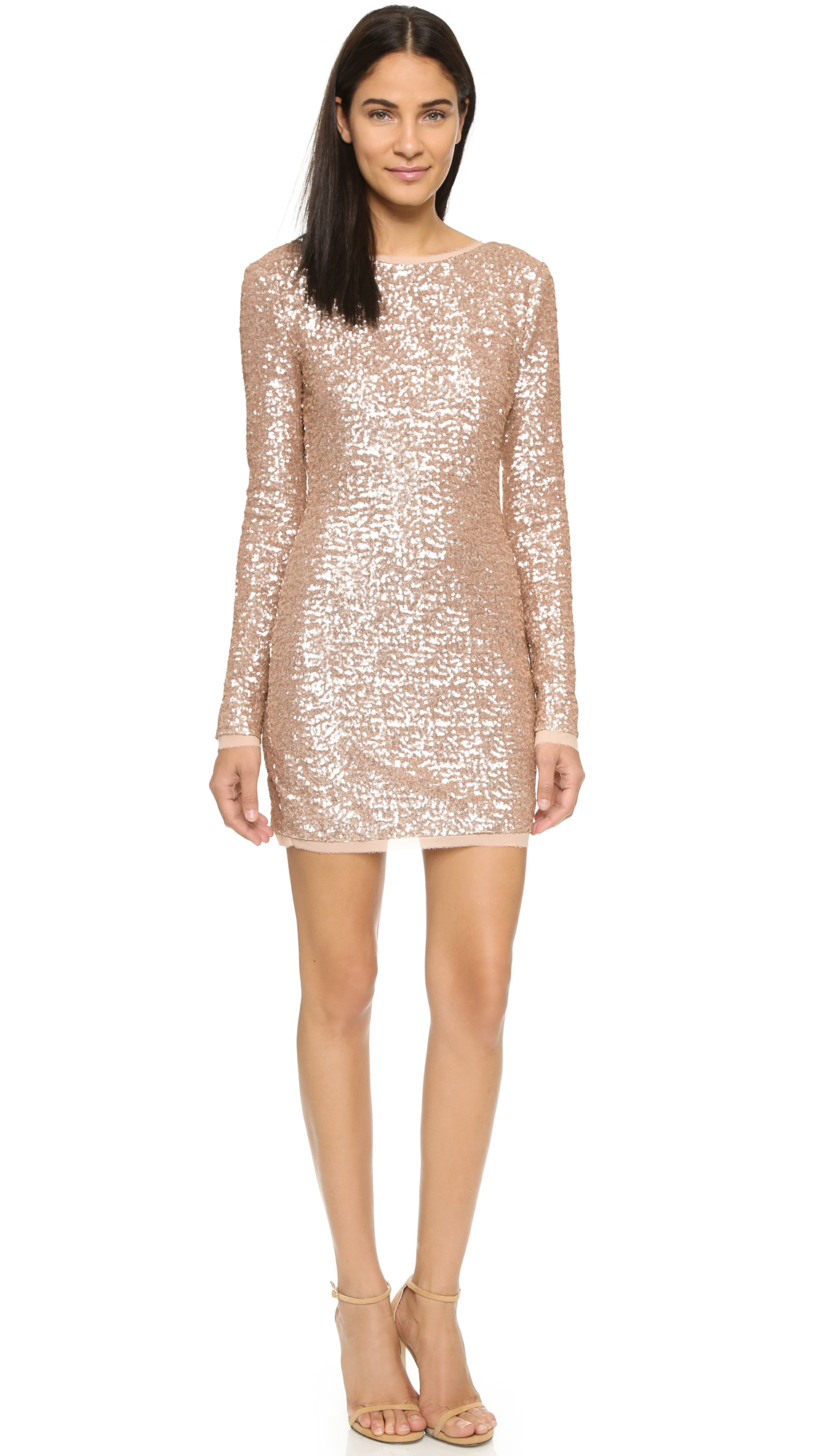 Rachel Zoe Sequin Mini Dress In Pink Lyst