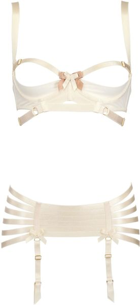 Bordelle Spandex Suspender in White (off white)