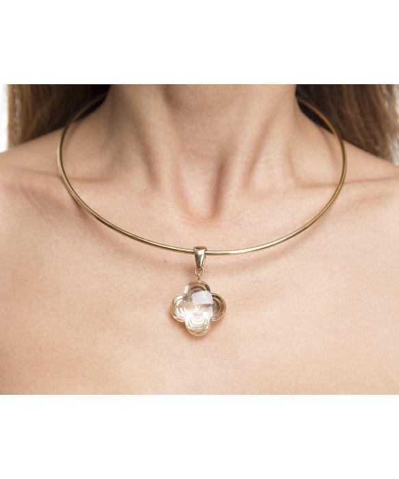 b1fcc324b6915 Louis Vuitton Pre-owned Gold A La Folie Choker Necklace in Metallic ...