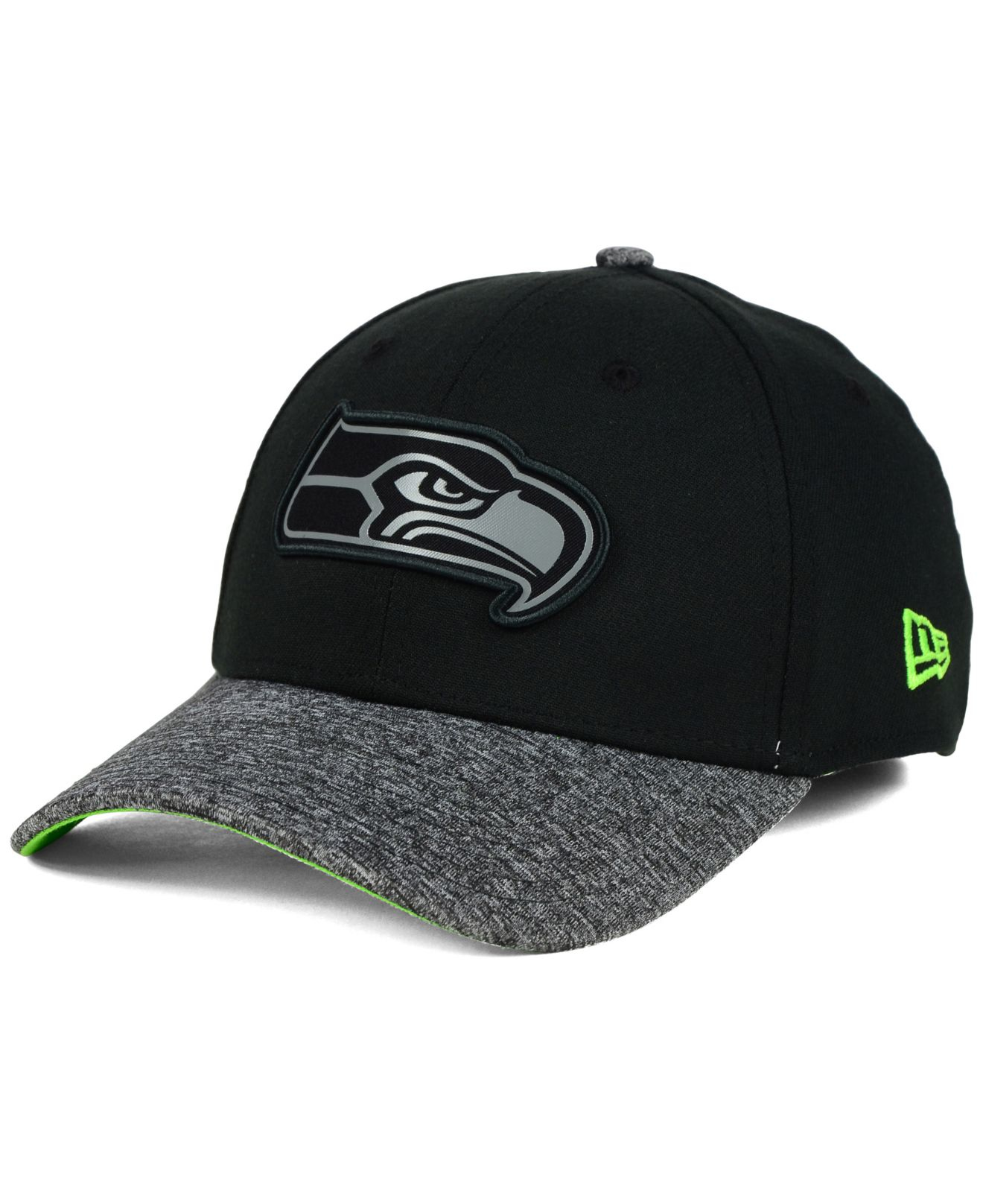 ... official store lyst ktz seattle seahawks gridiron 39thirty cap in black  for men 3f6f9 ade27 ... 65d2dece52e2