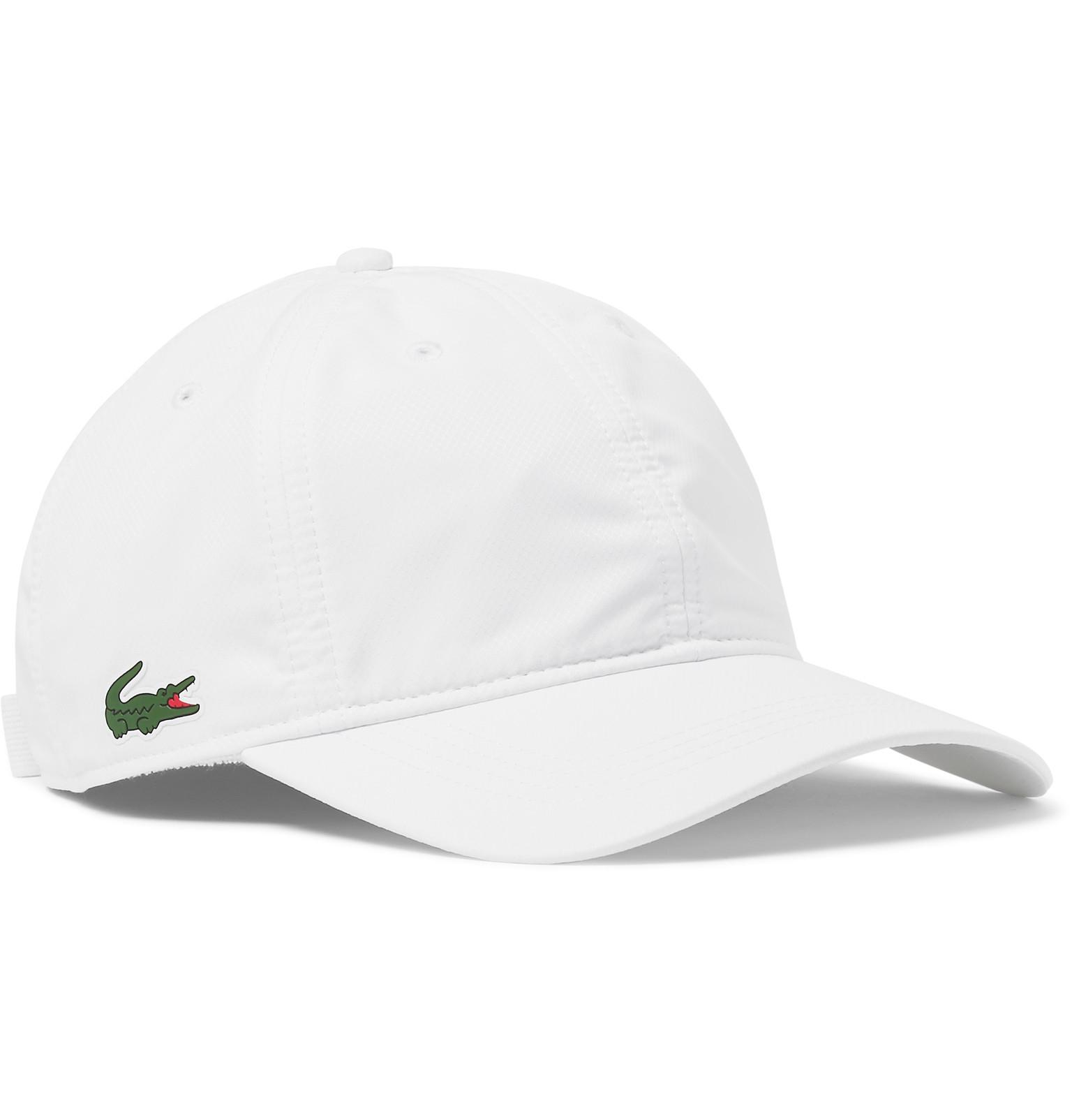 Lacoste Sport Piqué Baseball Cap in White for Men - Lyst 3020d4e0105