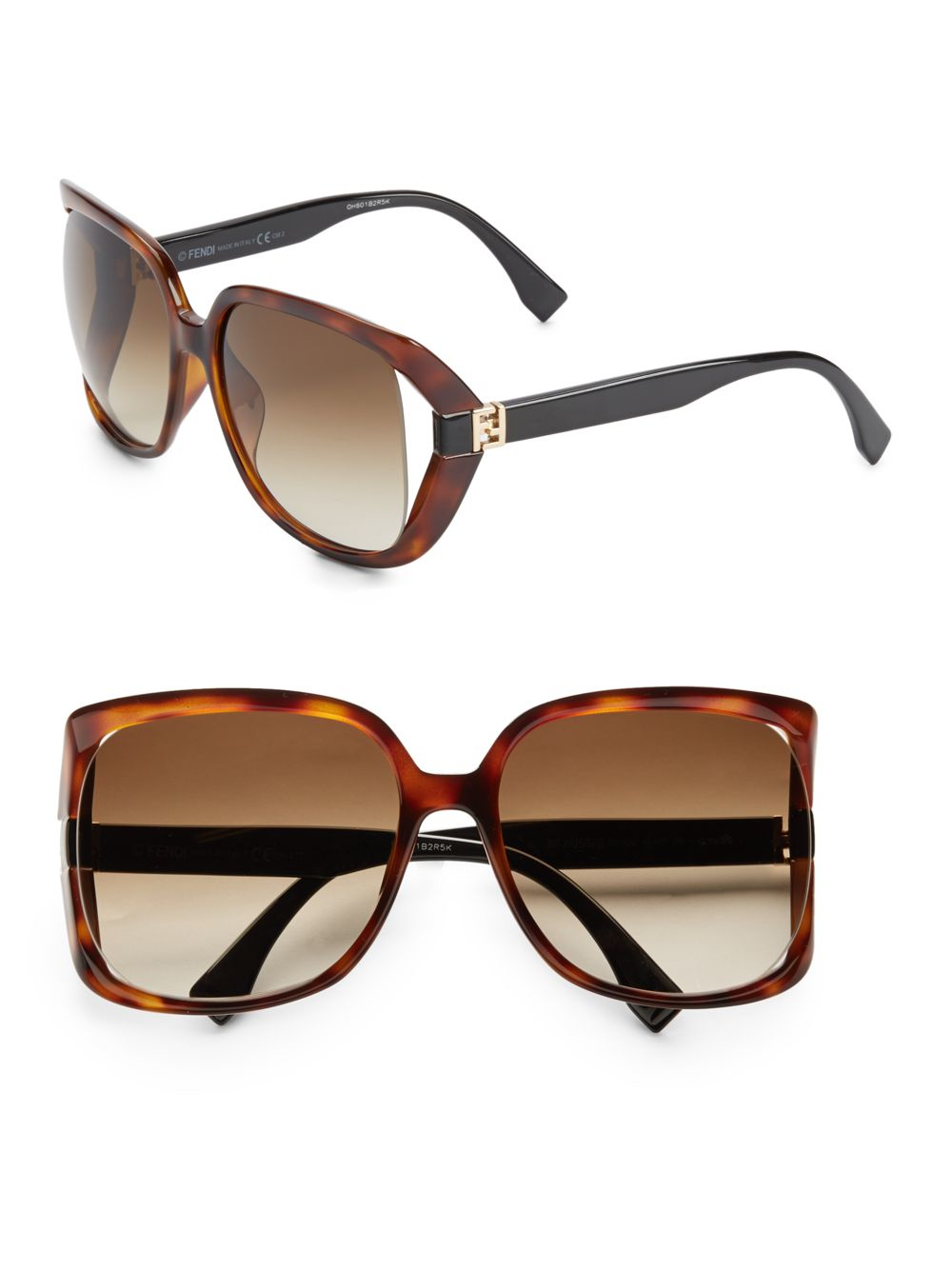 9feb4eb793cee Fendi 60mm Oversized Square Sunglasses in Brown - Lyst