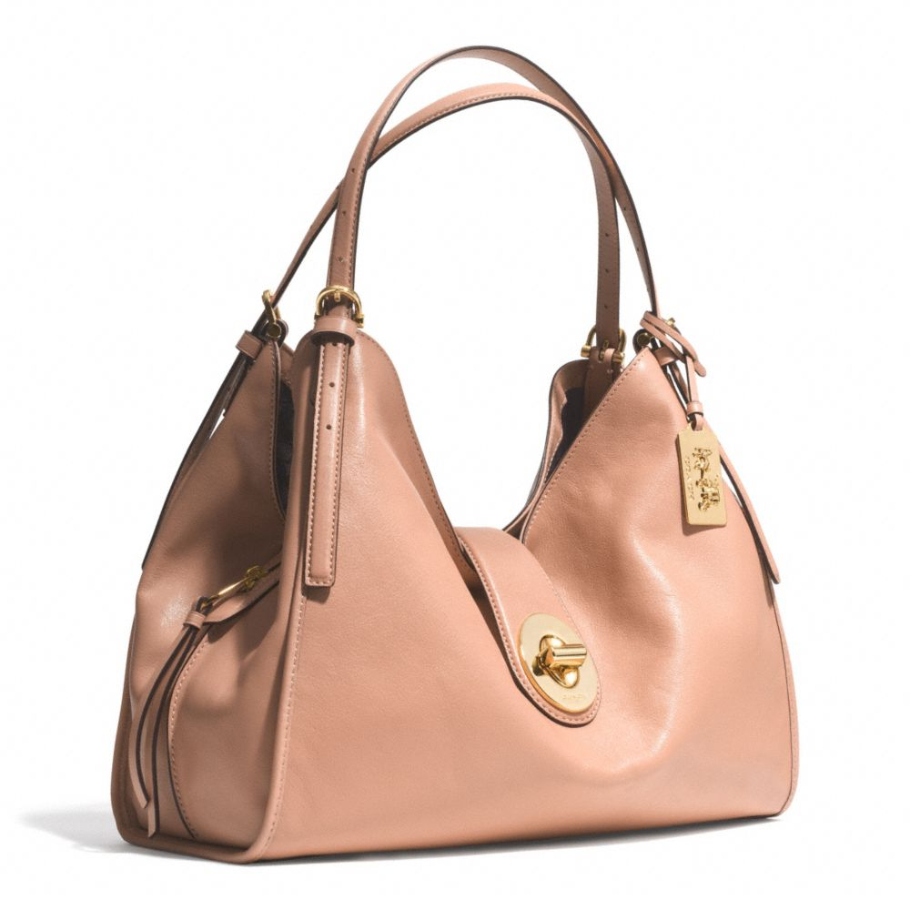 Coach Madison Carlyle Shoulder Bag In Leather in Pink | Lyst