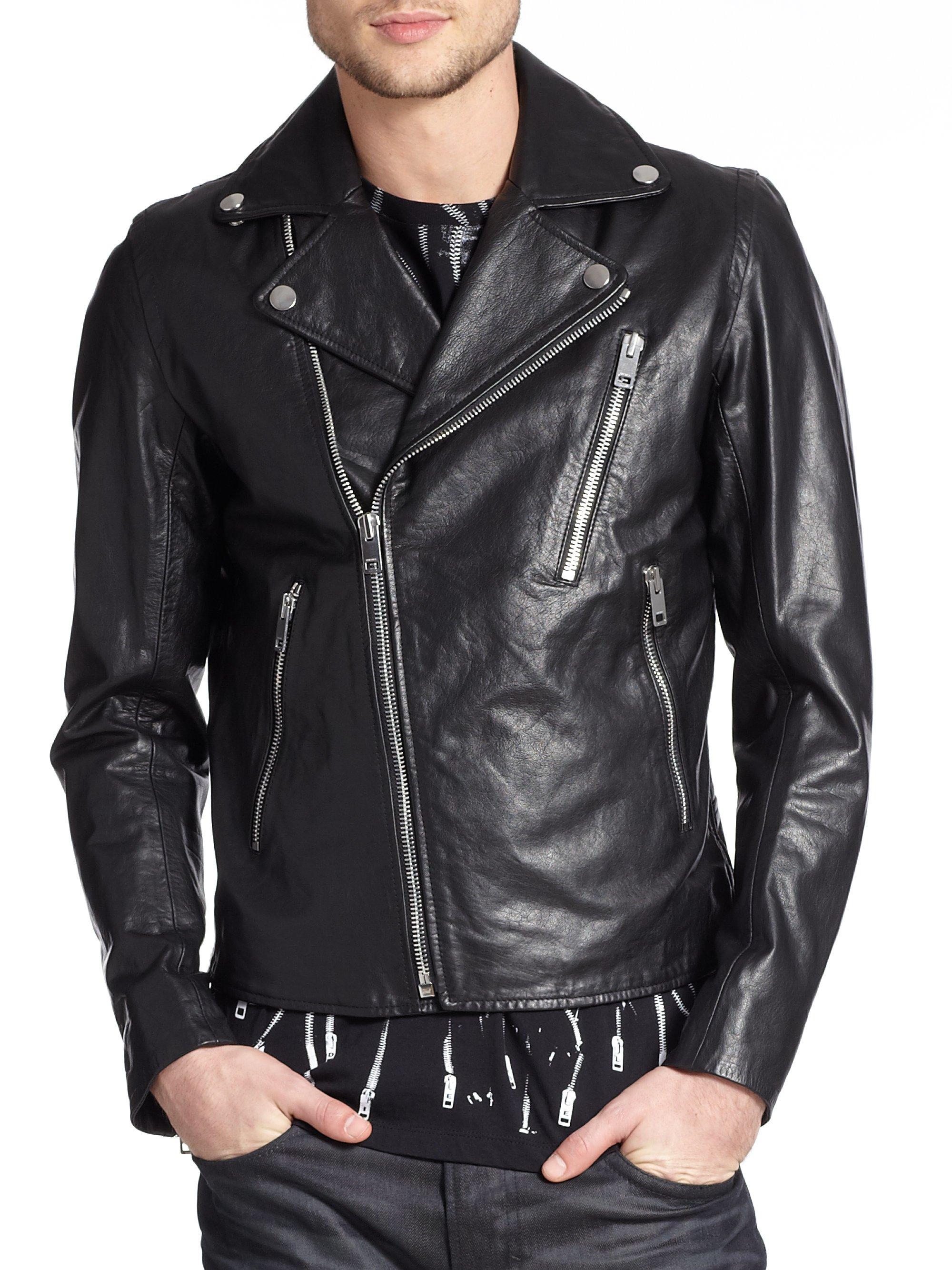 Diesel mens leather jacket