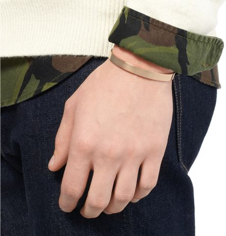 Le Gramme Le 29 Polished Red Gold Cuff In Gold For Men Lyst