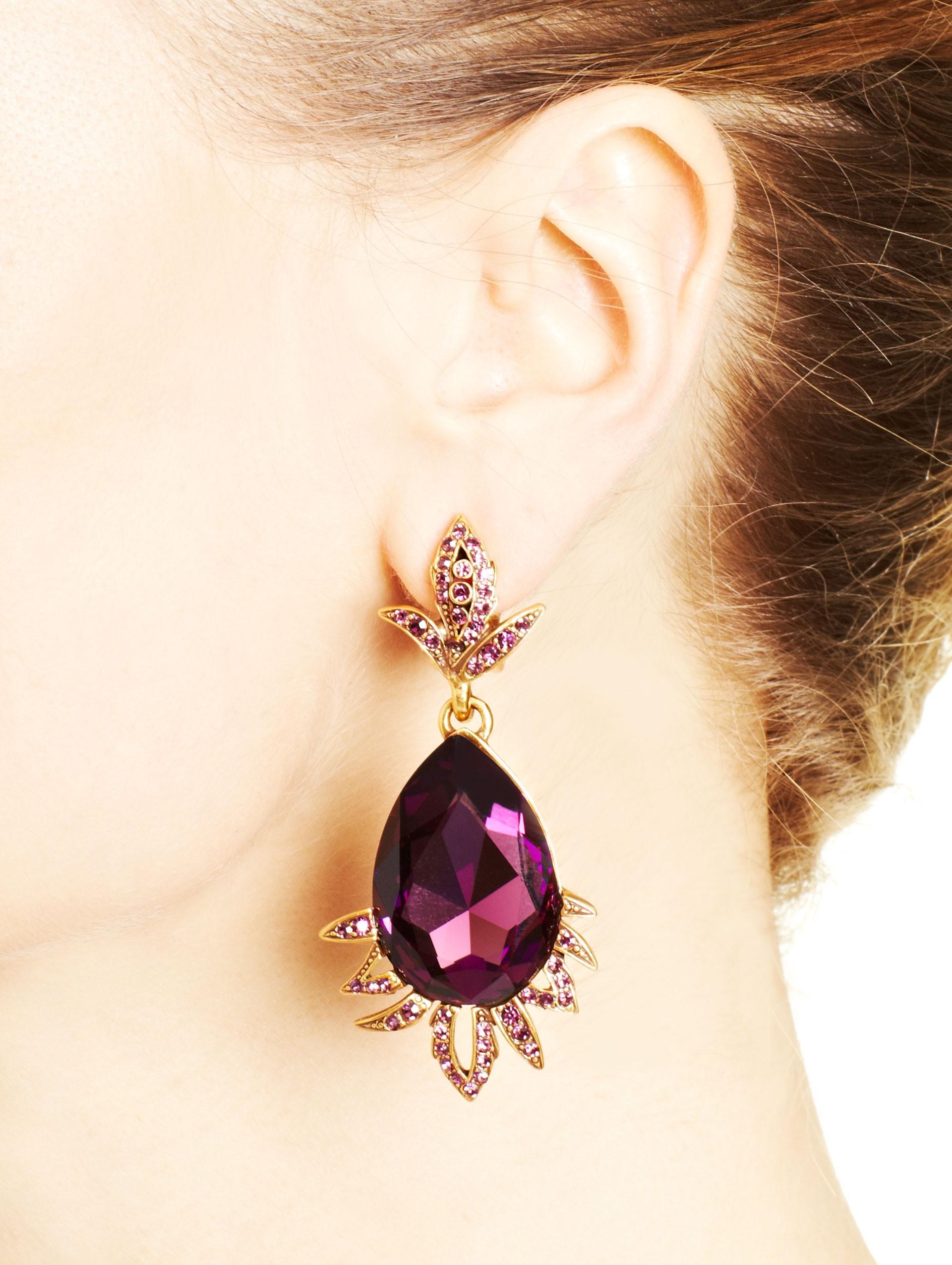 Crystal embellished earrings Oscar De La Renta zPWU4C