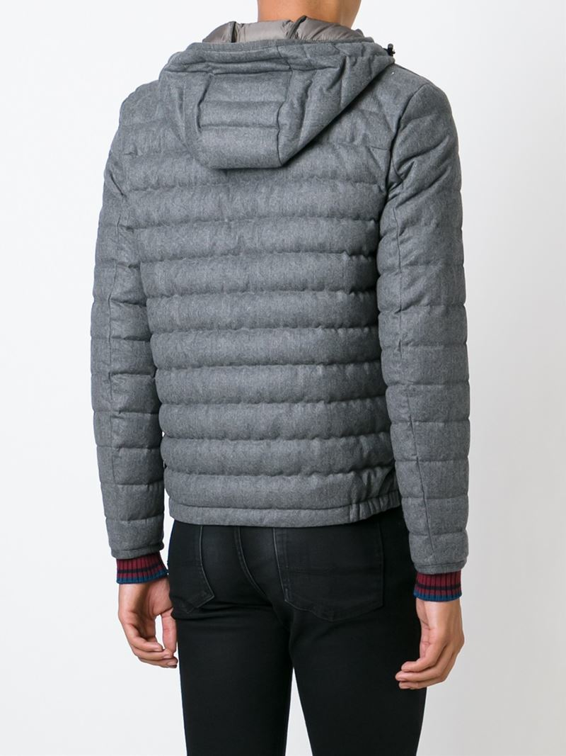 moncler grey padded jacket