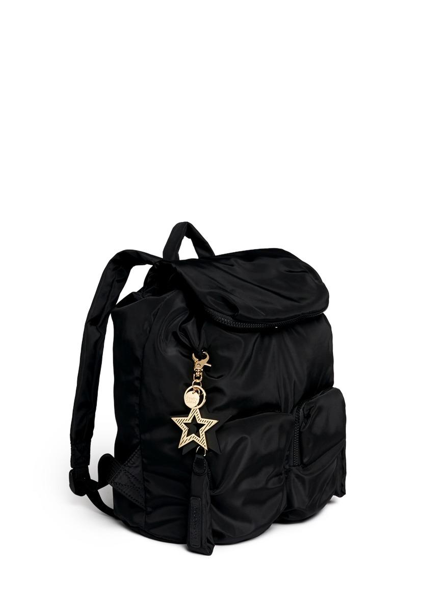 Lyst - See By Chloé  joy Rider  Nylon Puffer Backpack in Black 41c6c7e2de760