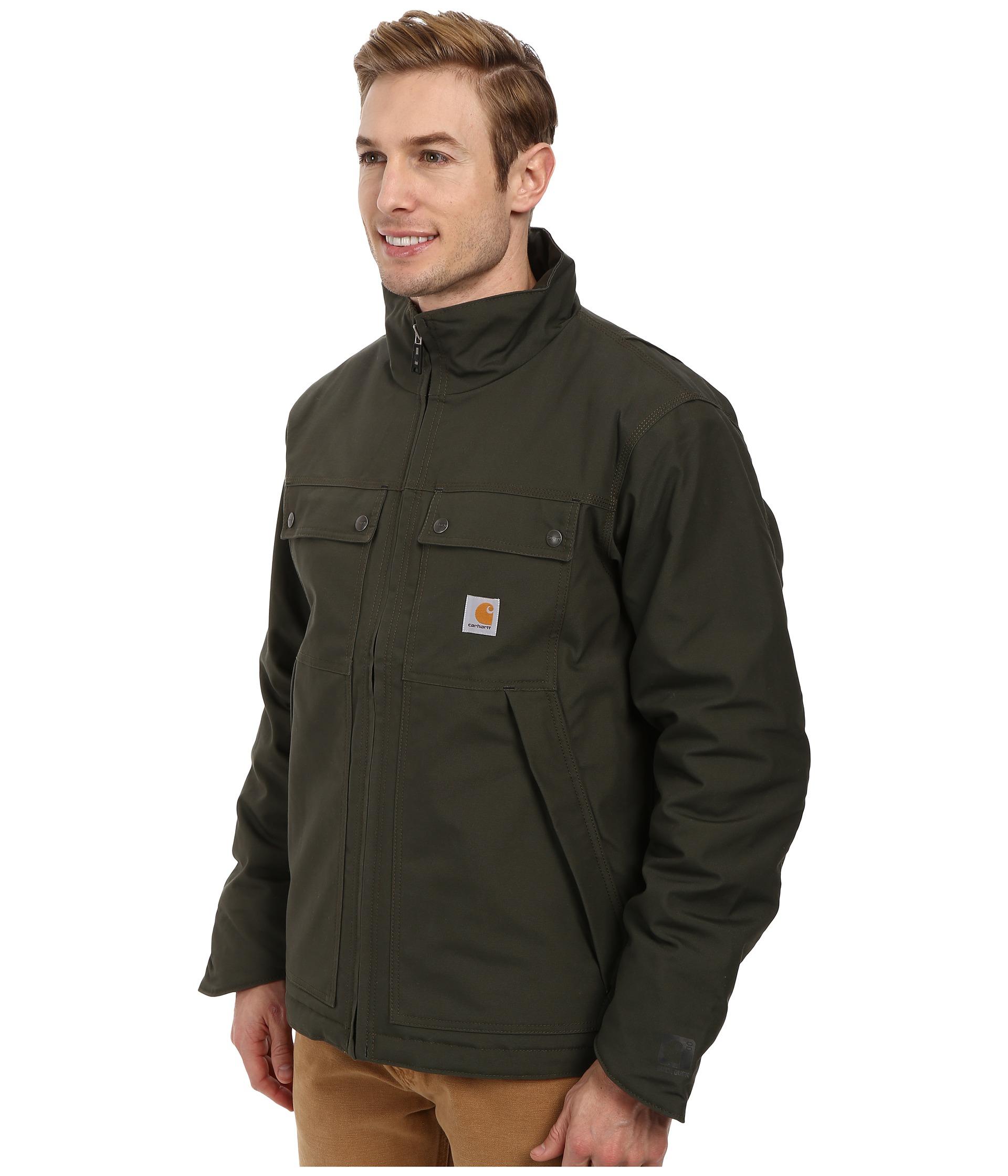 Carhartt Quick Duck® Jefferson Traditional Jacket in Green for Men ...