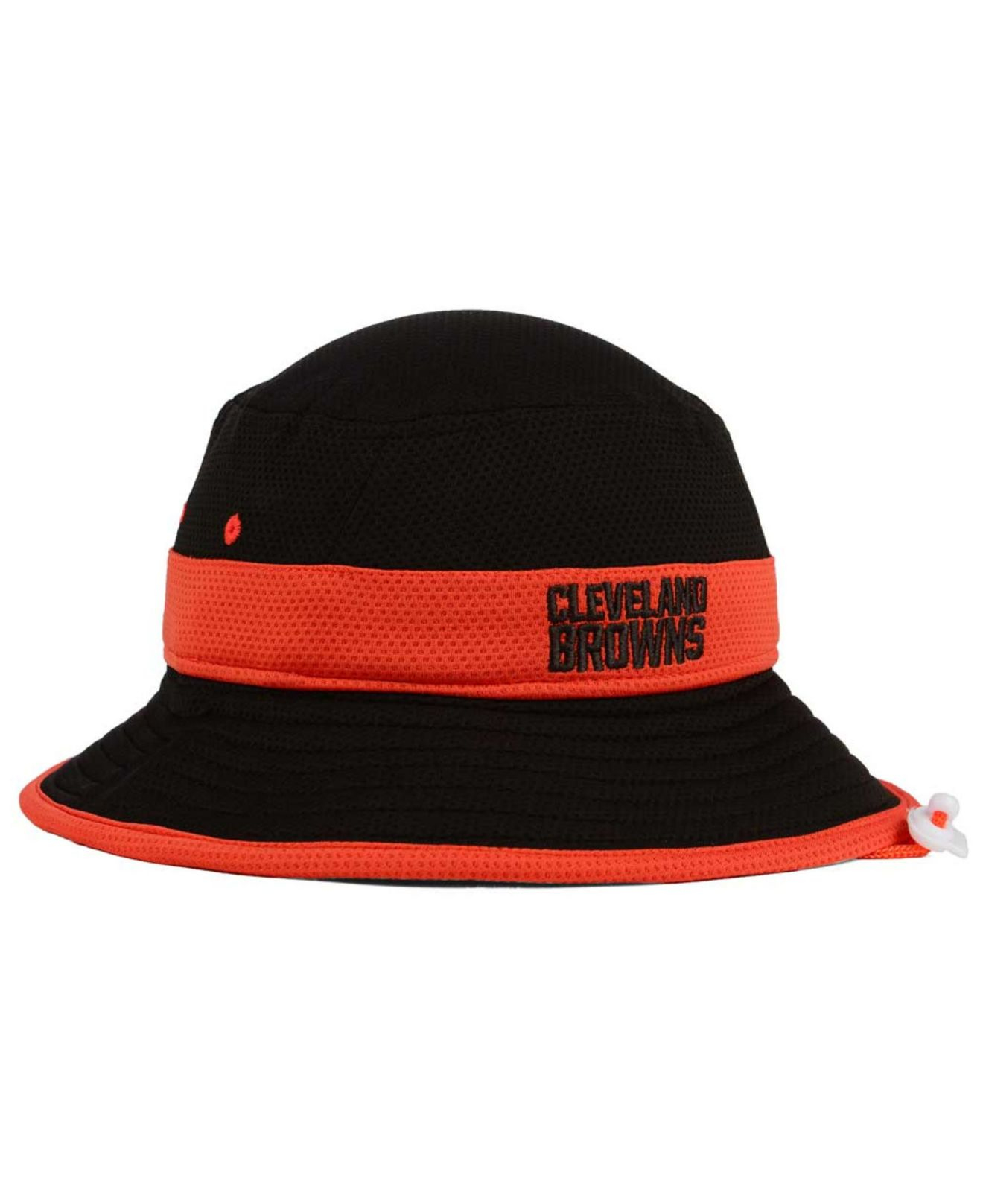 quite nice ce489 95d23 KTZ Cleveland Browns Training Camp Reverse Bucket Hat in Black for ...