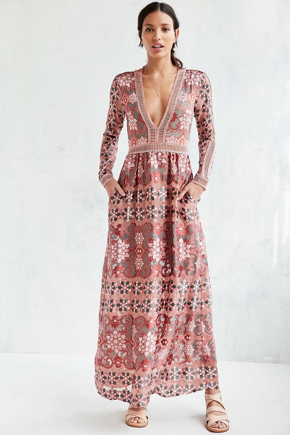 92a72dbae9f3 For Love & Lemons Juliet Maxi Dress in Red - Lyst