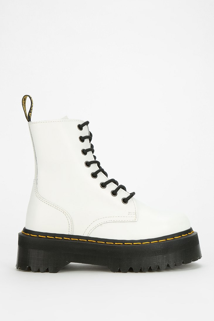 Dr. martens Jadon 8eye Platform Boot in White | Lyst