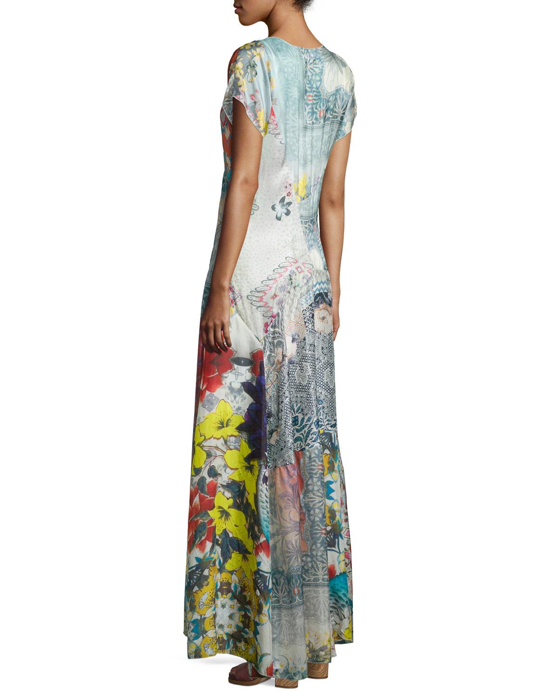 Lyst - Johnny Was Lulu Floral-Print Maxi Dress