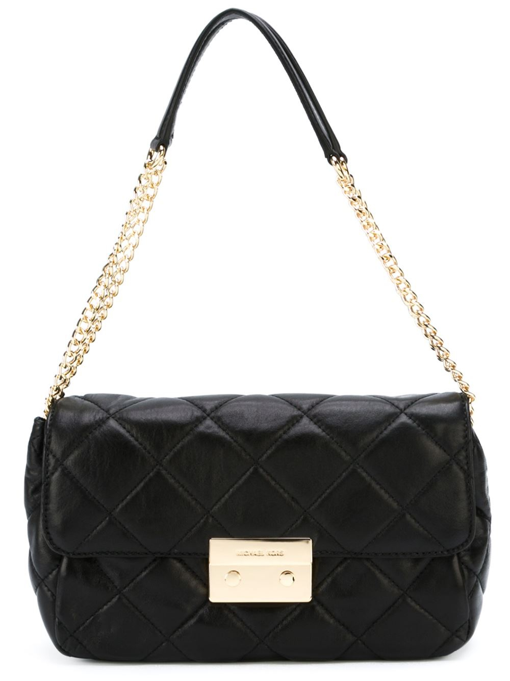 Lyst Michael Michael Kors Sloan Shoulder Bag In Black