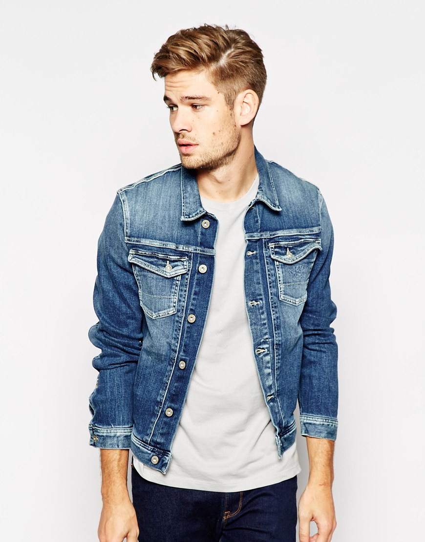 Lyst - Pepe Jeans Pepe Denim Jacket Rooster Slim Fit Stretch Tied ... 3765cbd71
