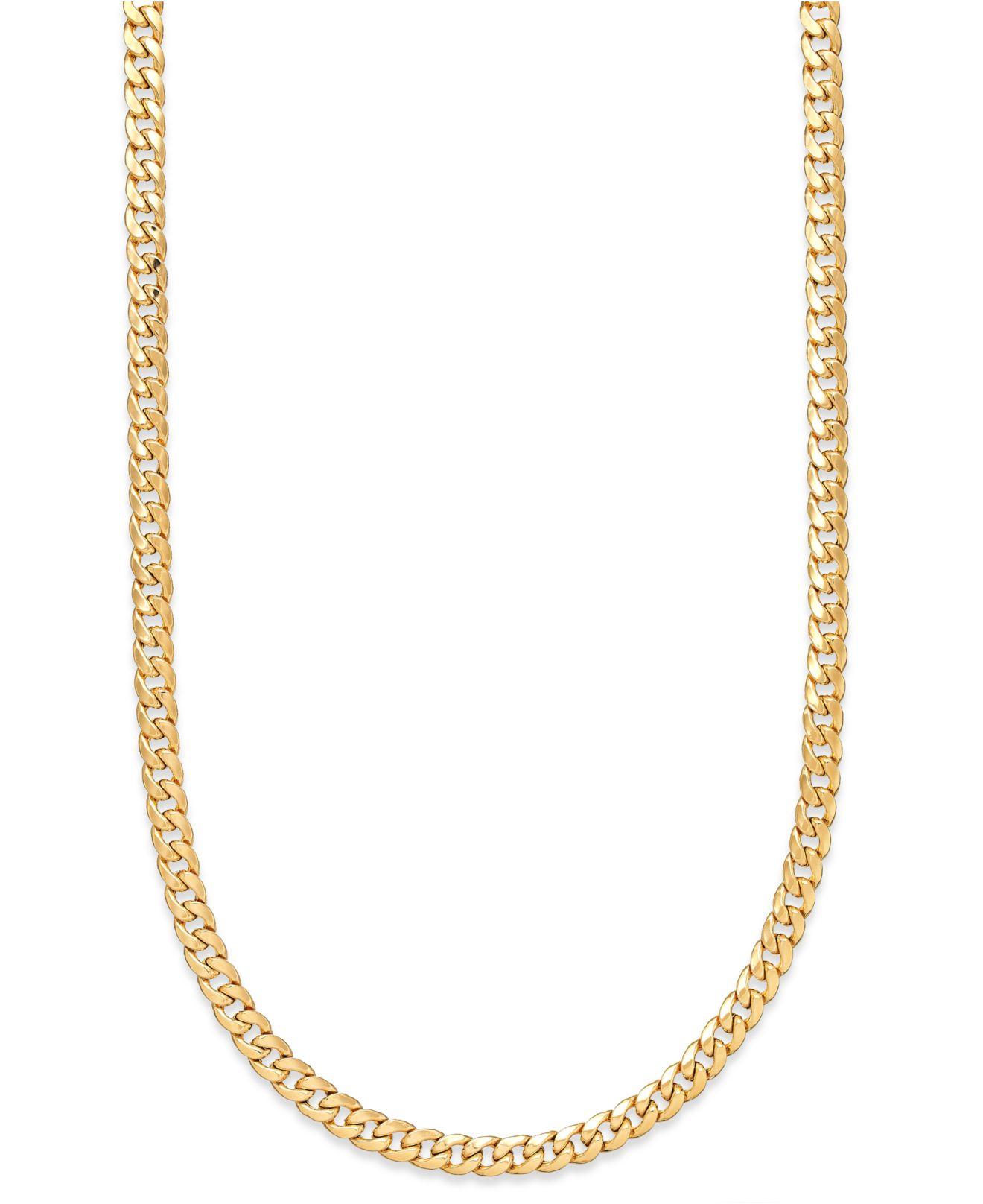 macy s 22 inch cuban link chain necklace 7mm in 14k gold