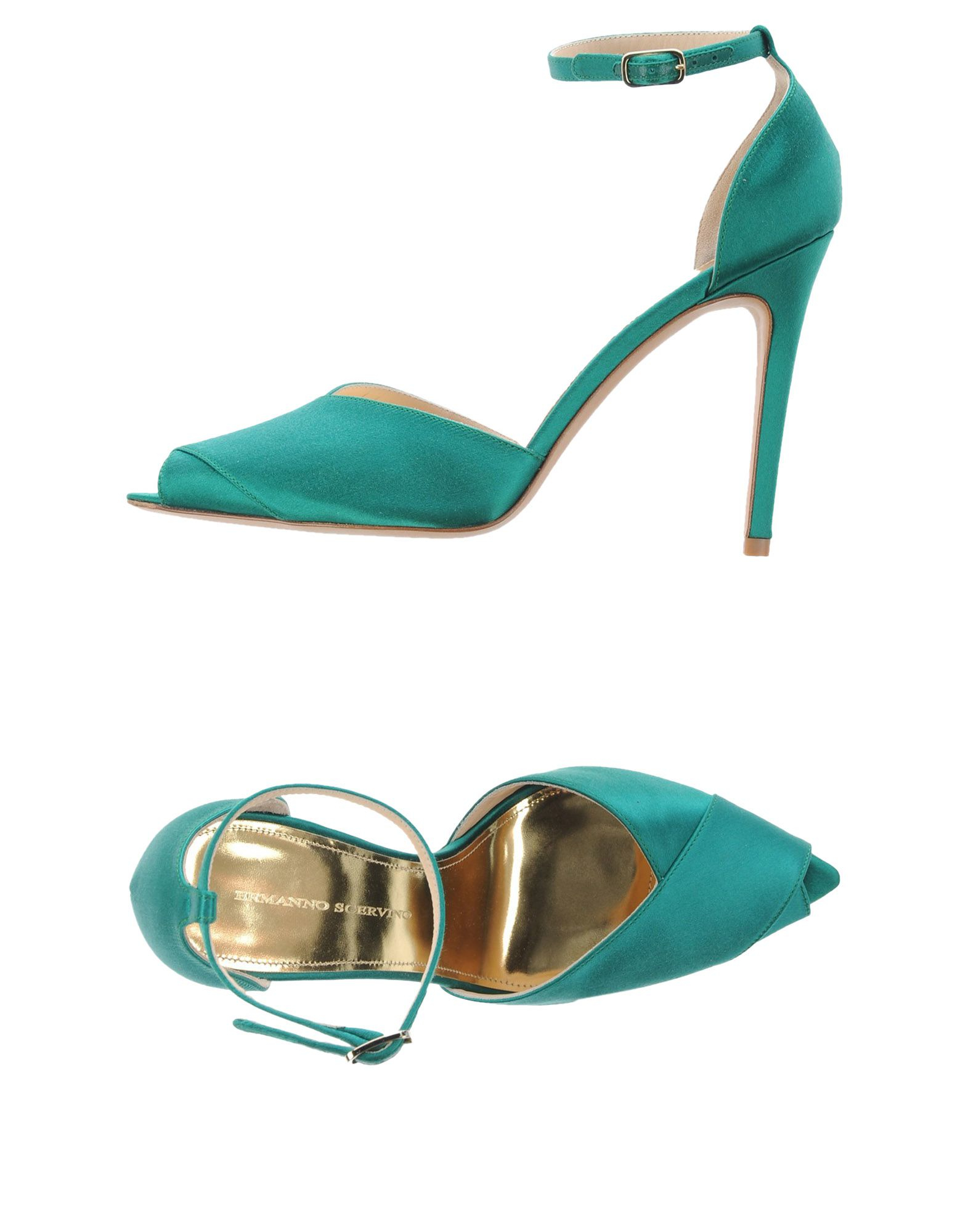 in Sandals Lyst Green Scervino Ermanno pF4wqtxtOR