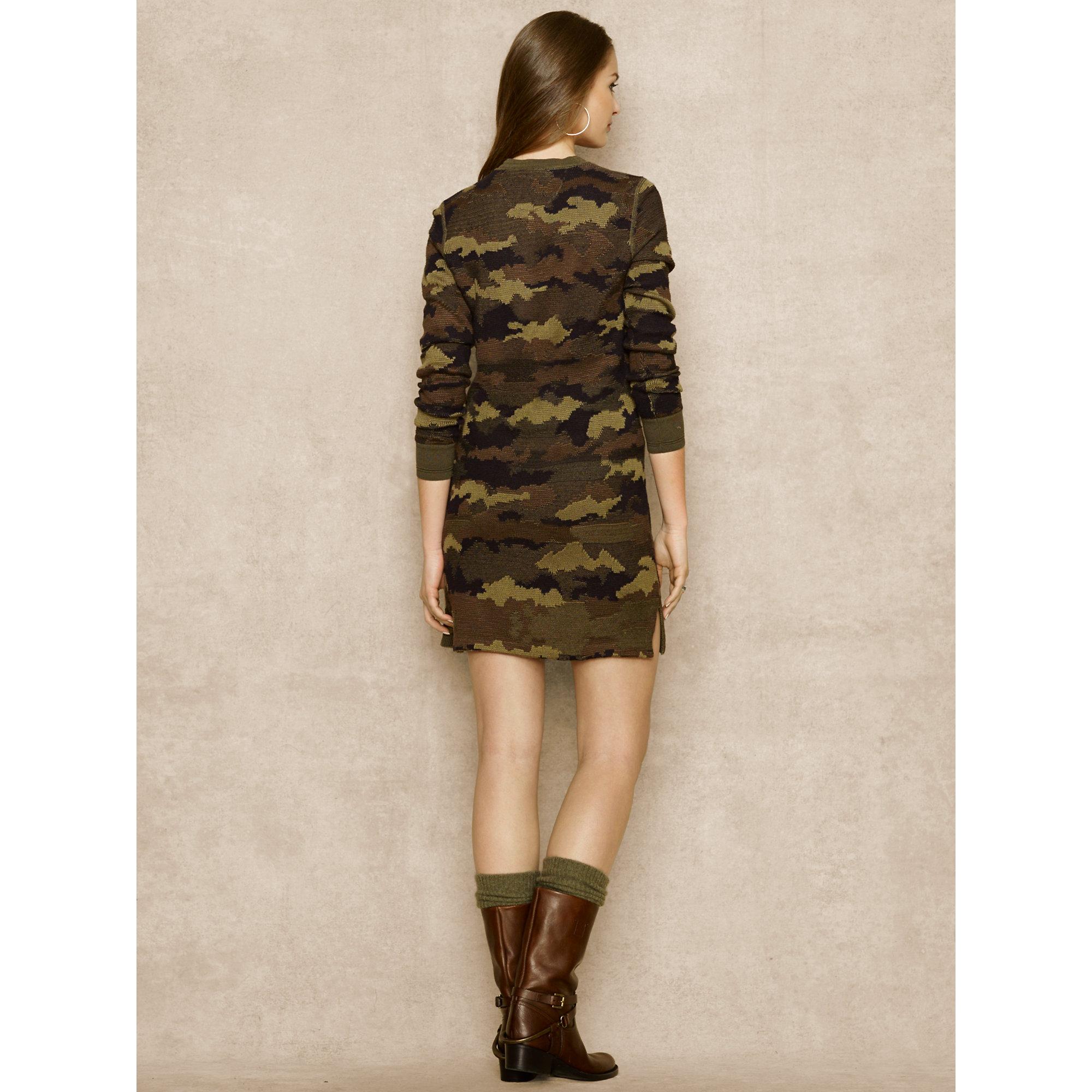 Sweater Dress Camouflage