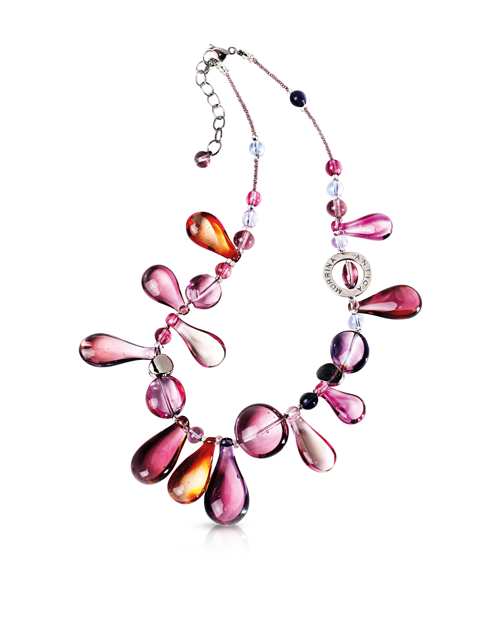 Lyst antica murrina lapilli murano glass necklace in pink gallery mozeypictures Choice Image