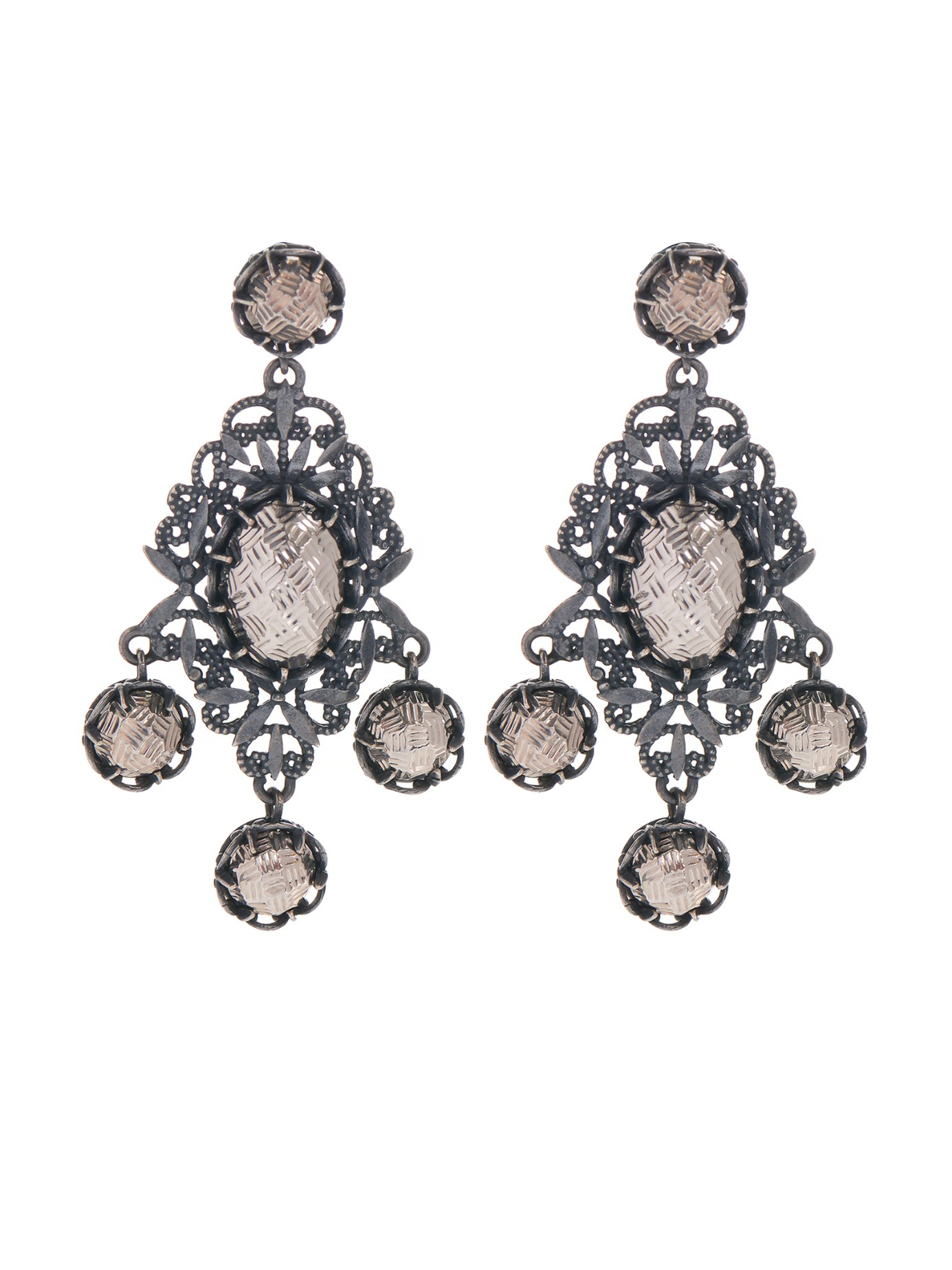 Intrecciato stud earrings - Metallic Bottega Veneta sJ4pqTLA