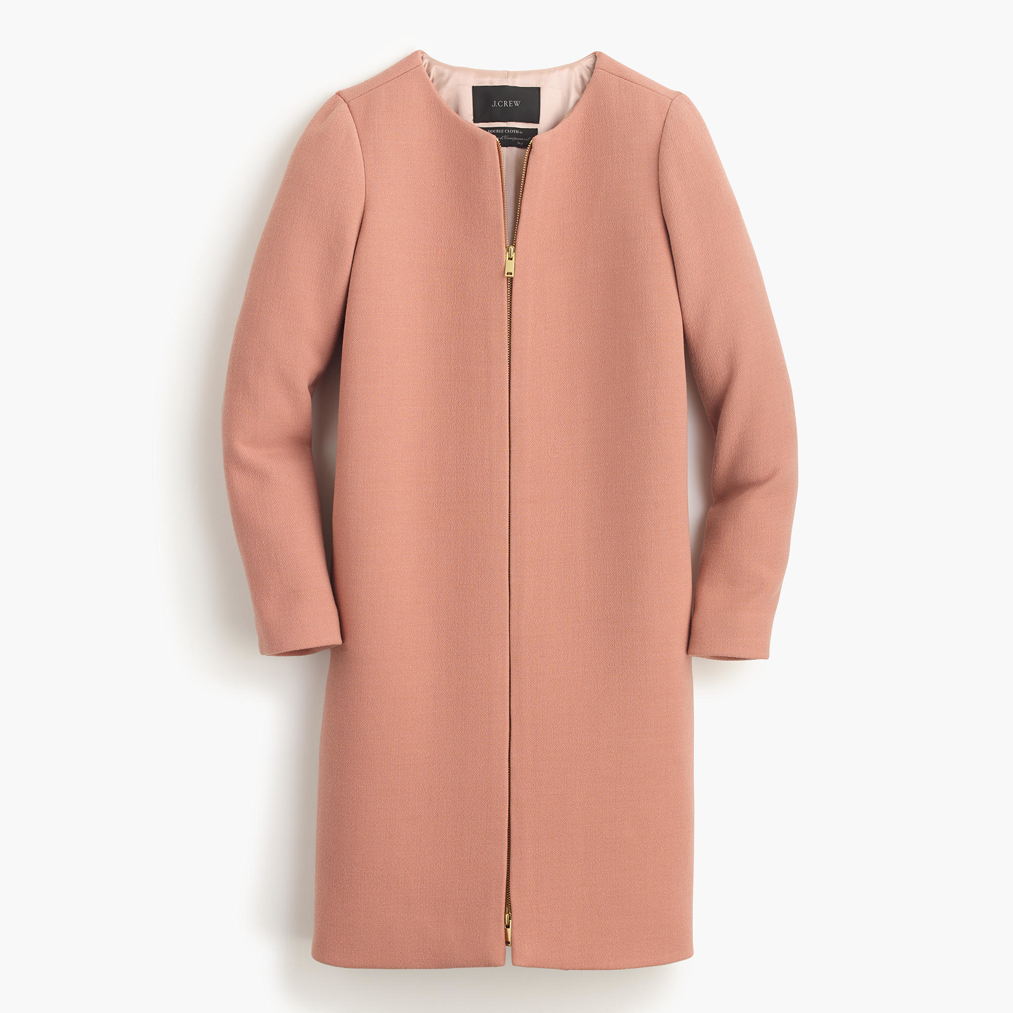 Jcrew frosted taupe double cloth collarless coat brown product 0 565292321 normal
