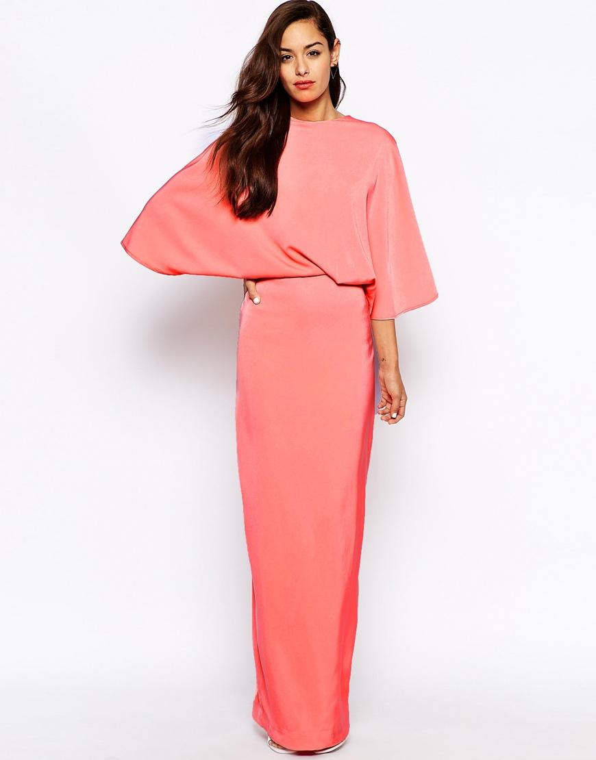 Aq/aq Sieber Kimono Sleeve Maxi Dress in Pink   Lyst