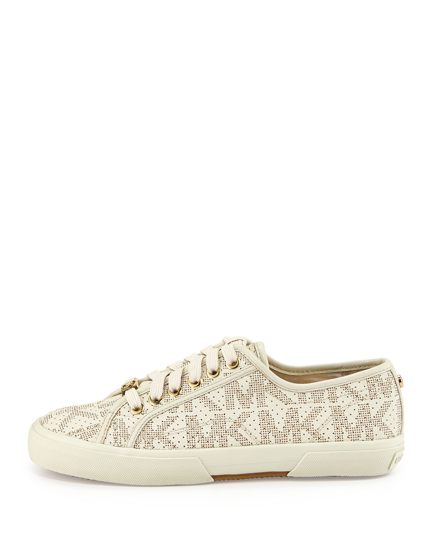 337ec7ed77081 Lyst - MICHAEL Michael Kors Boerum Lace-up Low-top Sneaker in Natural