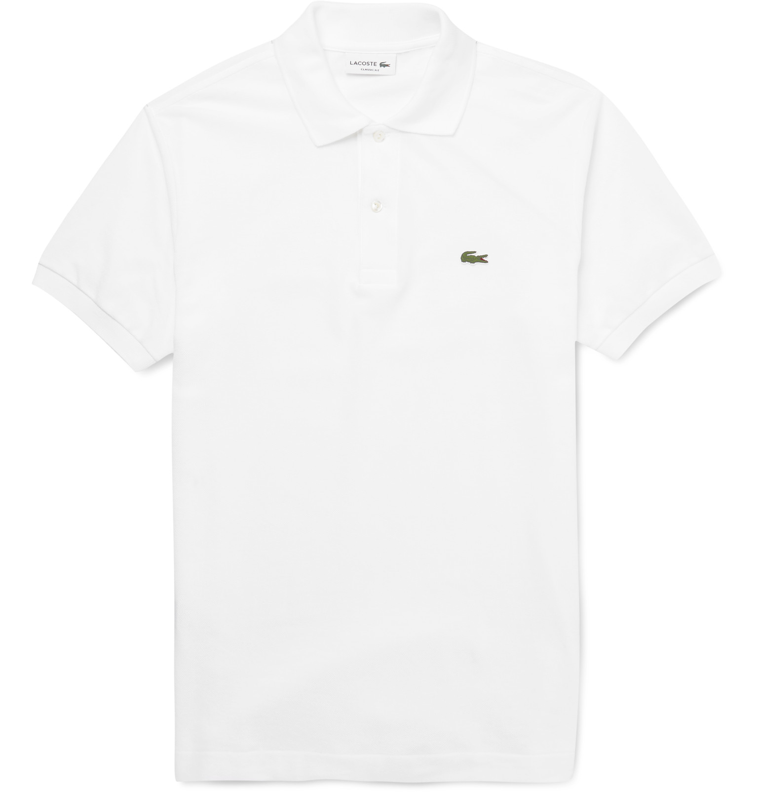 lacoste cotton piqu polo shirt in white for men lyst. Black Bedroom Furniture Sets. Home Design Ideas