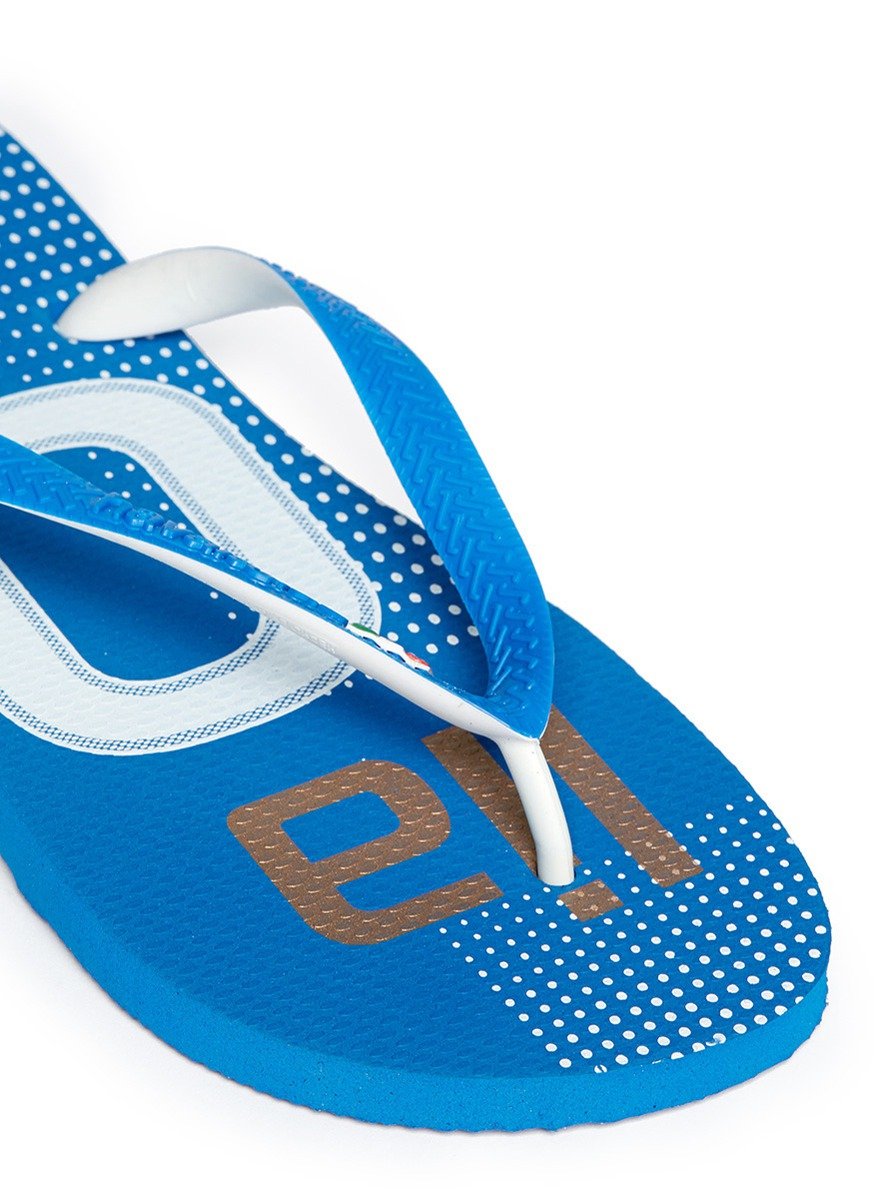 c0bbc542857e87 Lyst - Havaianas Teams Ii Italy Flip-flops in Blue for Men