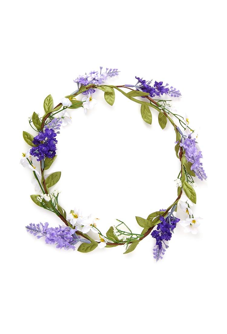 Lyst Forever 21 Jasmine Lavender Flower Crown In Purple