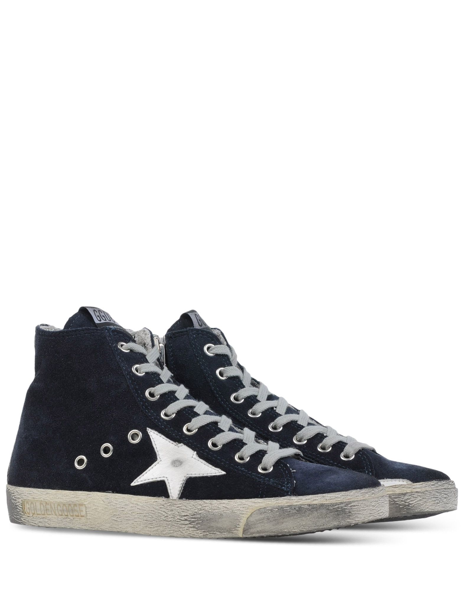 golden goose deluxe brand high top sneakers in blue dark blue lyst. Black Bedroom Furniture Sets. Home Design Ideas