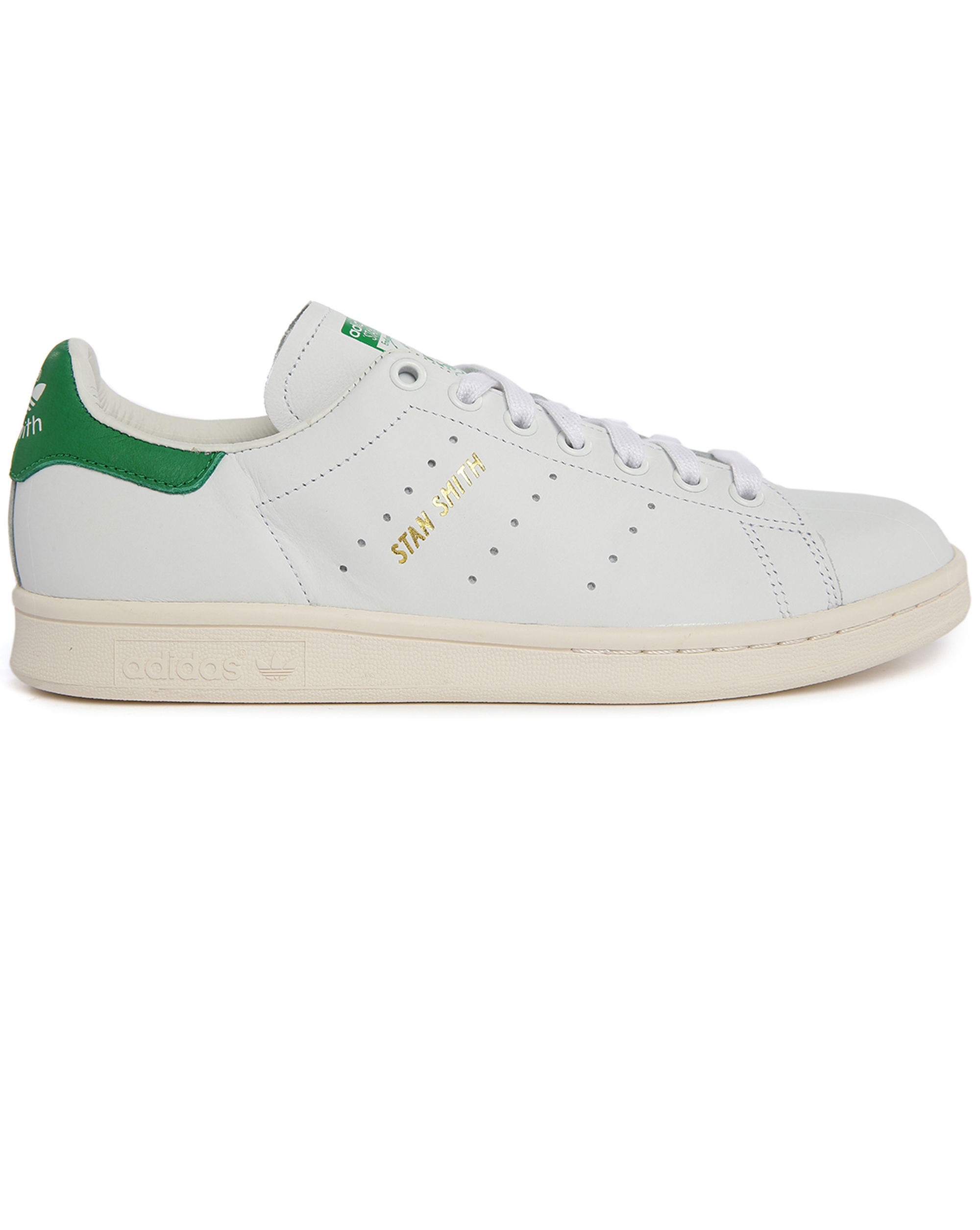 adidas originals white stan smith sneakers in green for men lyst. Black Bedroom Furniture Sets. Home Design Ideas