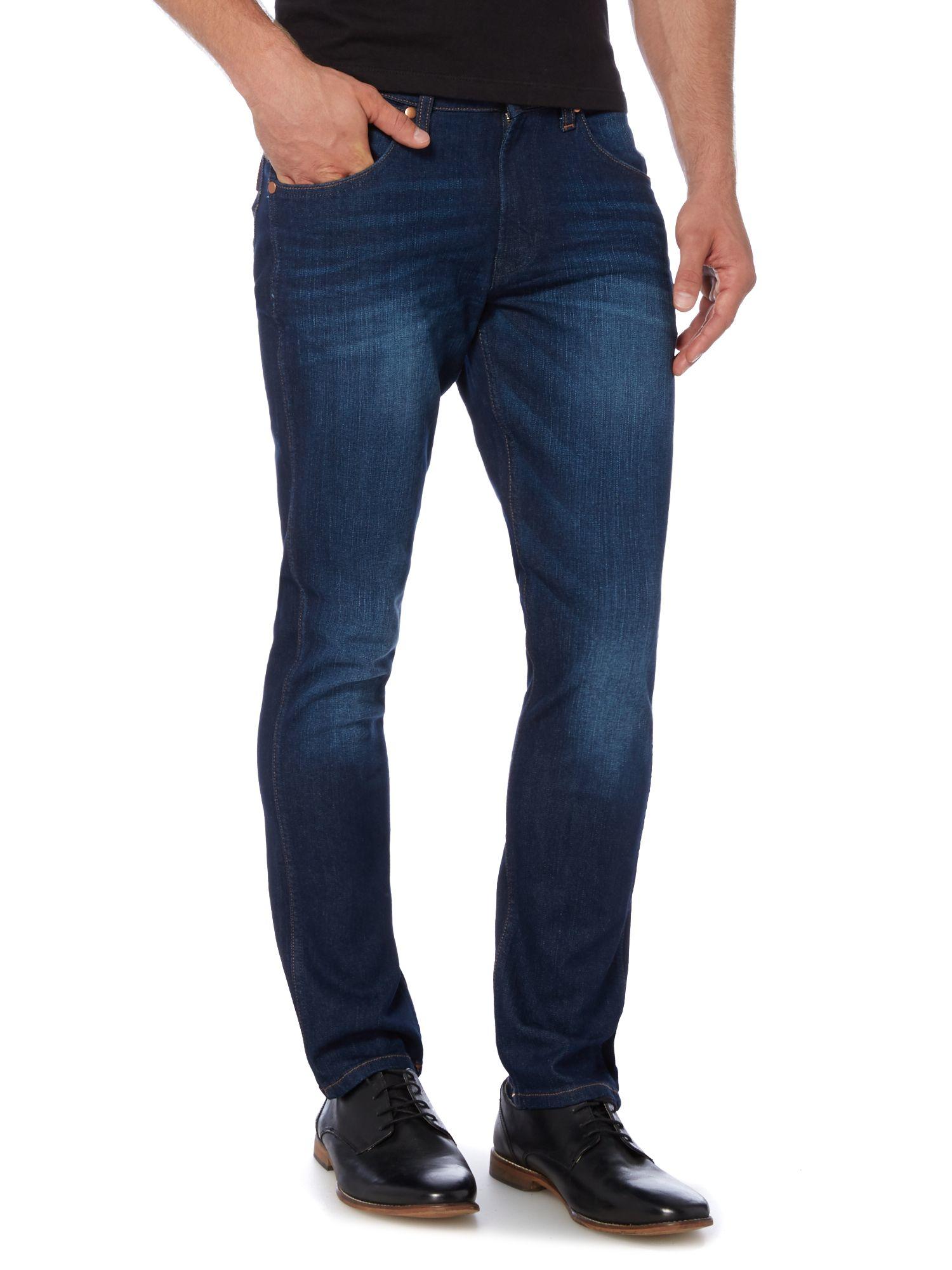 Wrangler bostin truck stop slim fit jean in blue for men for Wrangler denim shirts uk