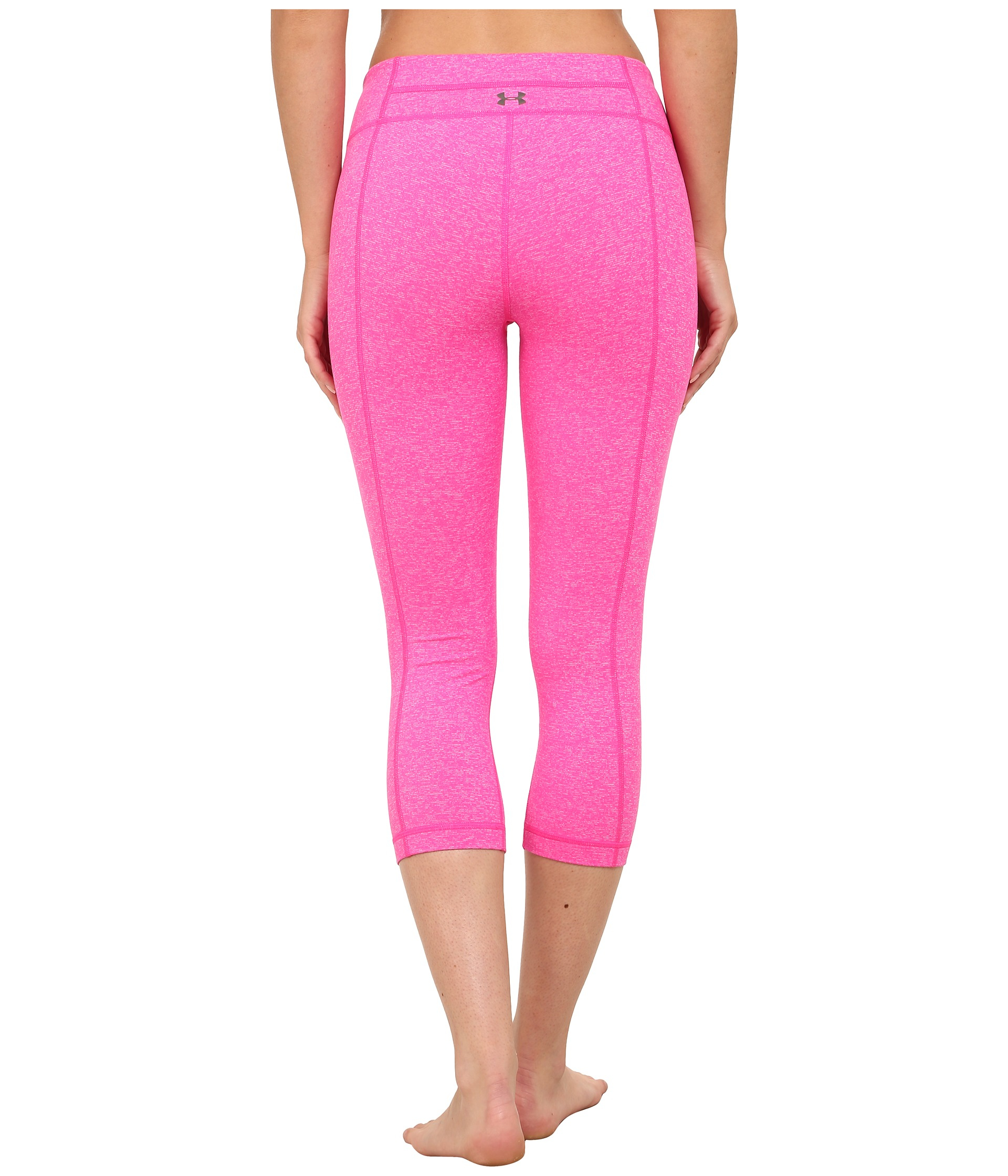 cf7cd19e00a0f6 Under Armour Ua Studio Tight Capri in Pink - Lyst
